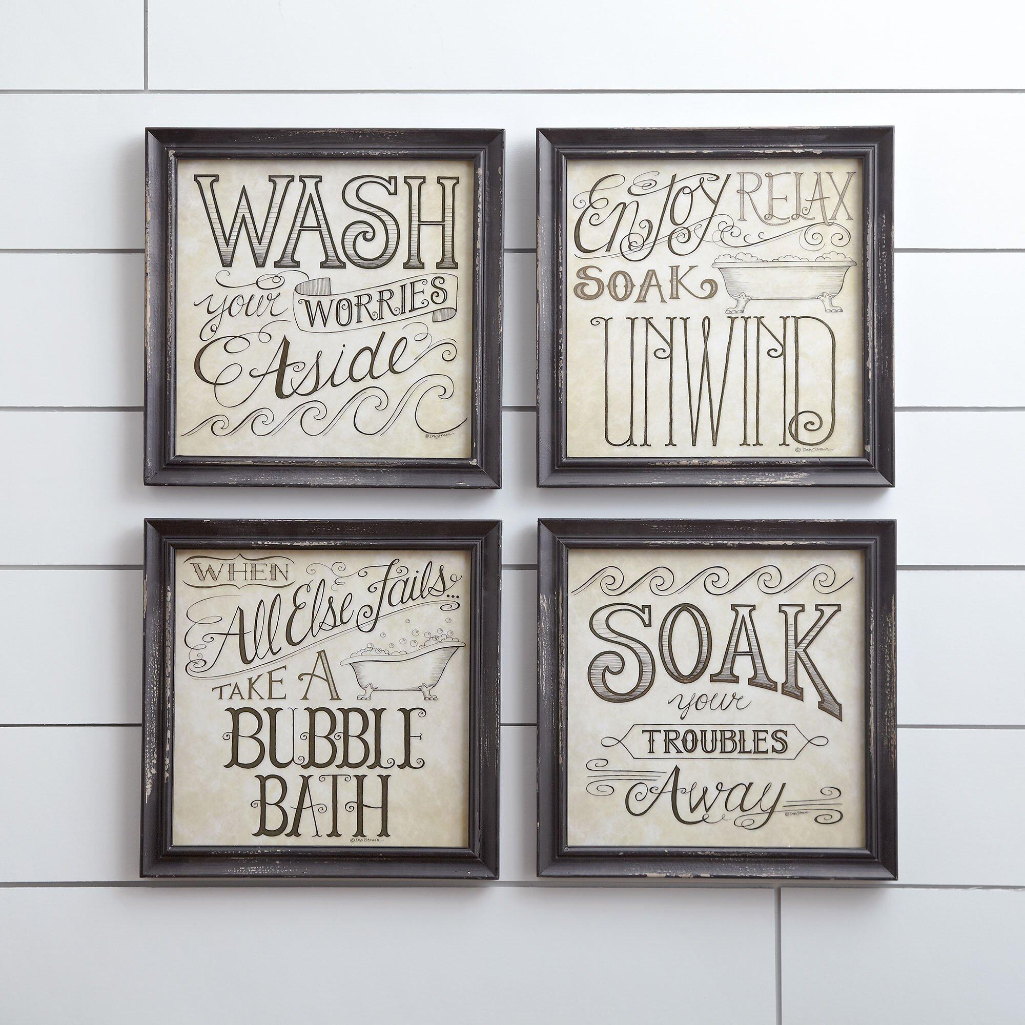 Birch Lane Bath Time Wall Framed Print  Birch Lane