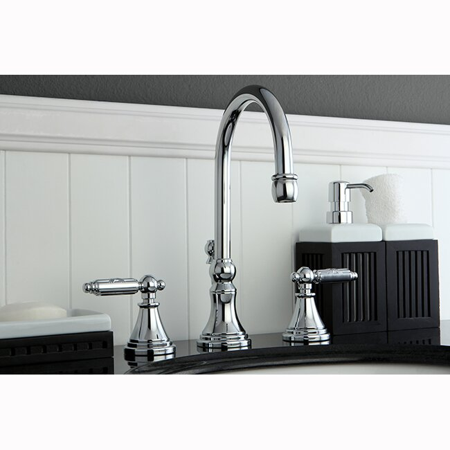 Kingston Brass Governor Double Handle Widespread Bathroom Faucet with ...