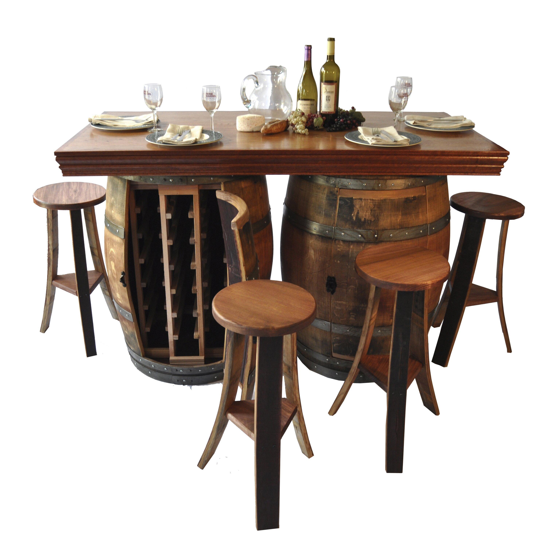 Napa Gathering Collection Napa East Collection Wine Barrel Bar Island Set