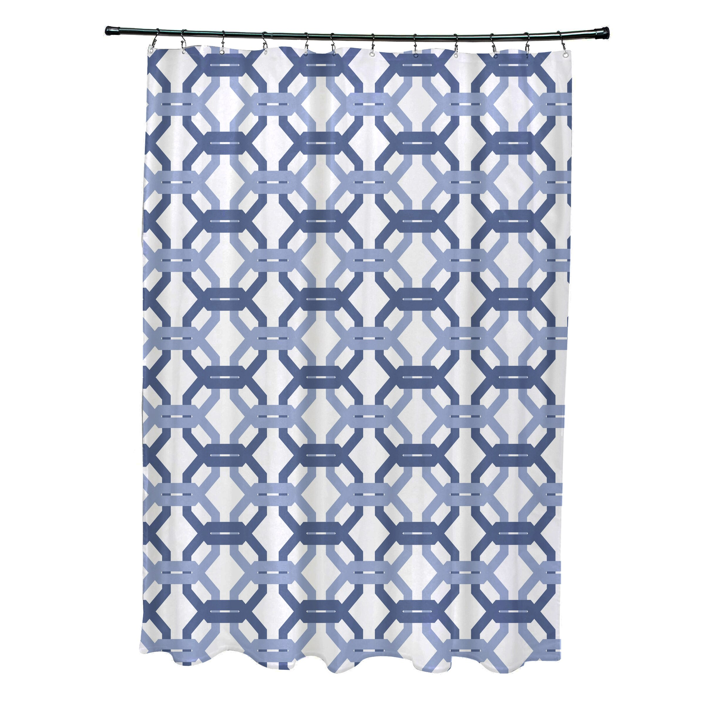 We 39 Re All Connected Geometric Print Shower Curtain Wayfair