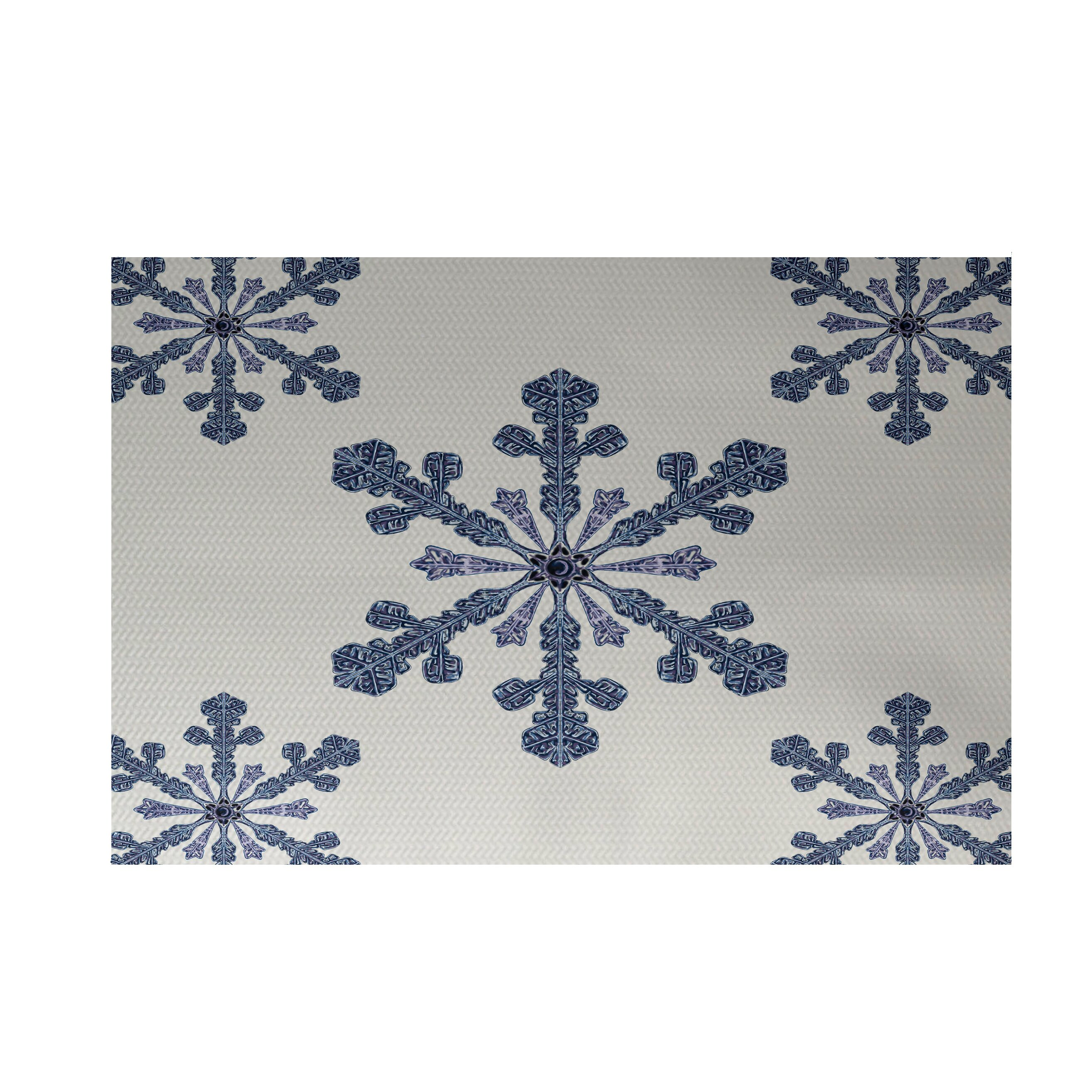 Vail Decorative Holiday Print Ivory Cream Indoor Outdoor