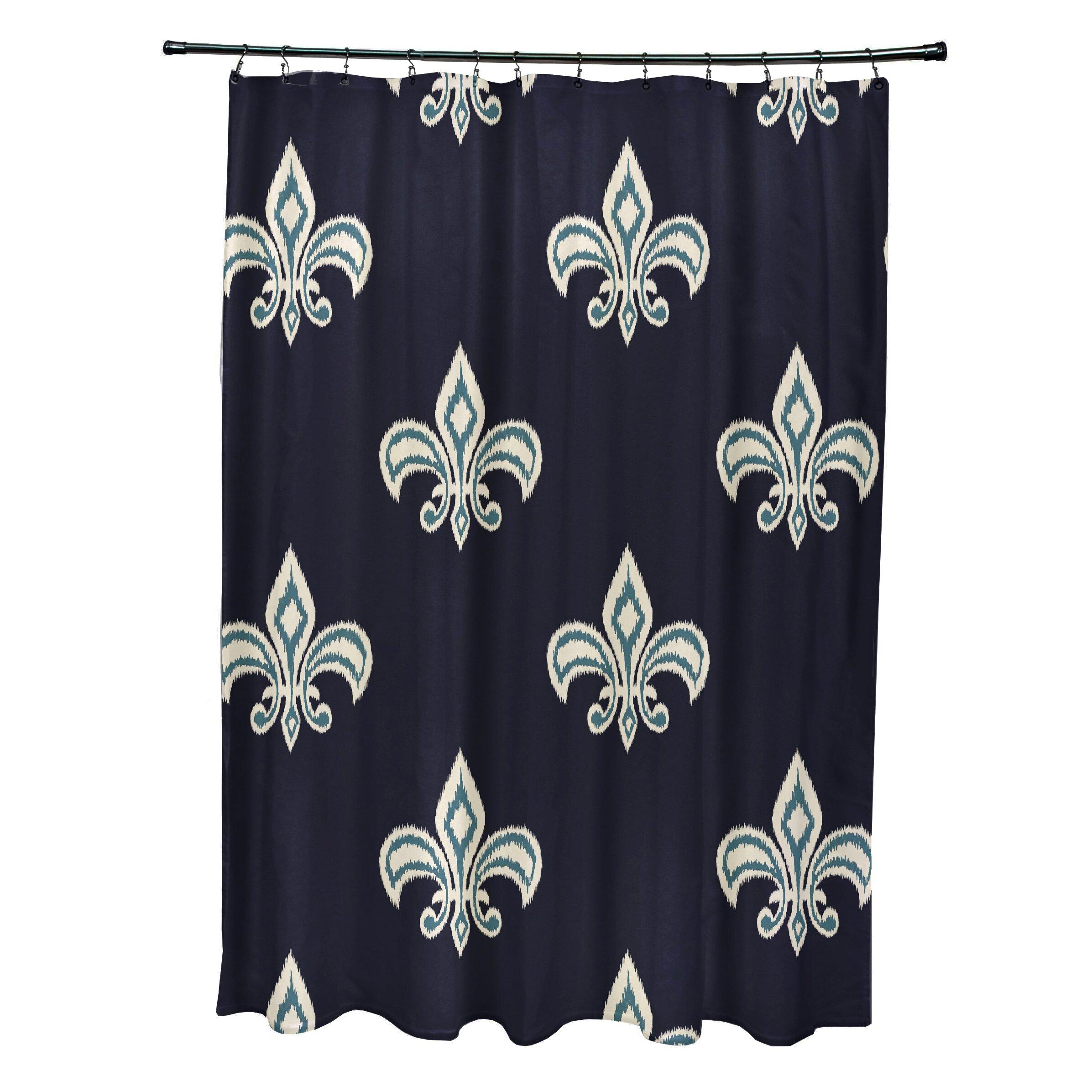 Fleur De Lis Ikat Print Shower Curtain Wayfair
