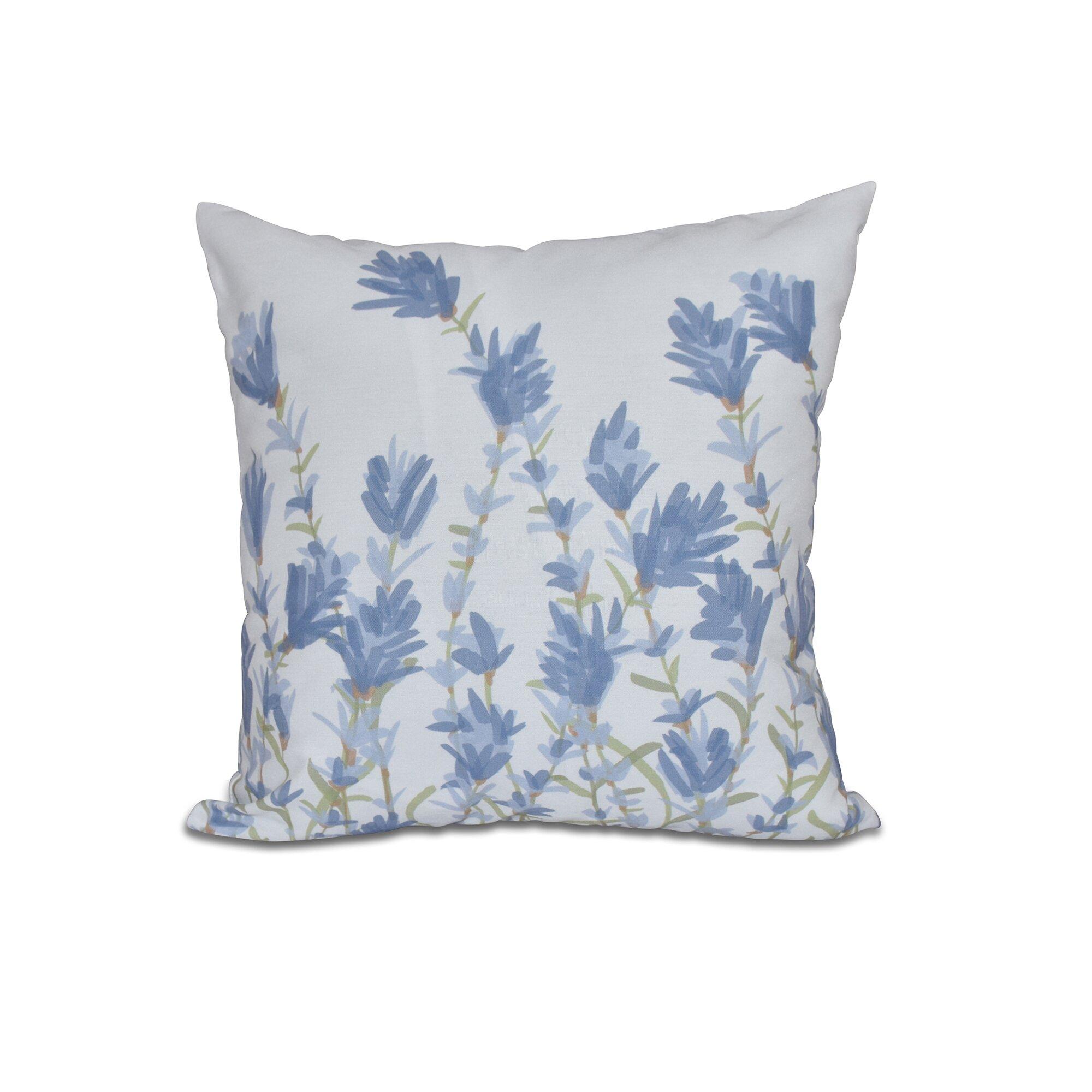 Lavender Flower Throw Pillow : Botanical Blooms Lavender Floral Outdoor Throw Pillow Wayfair