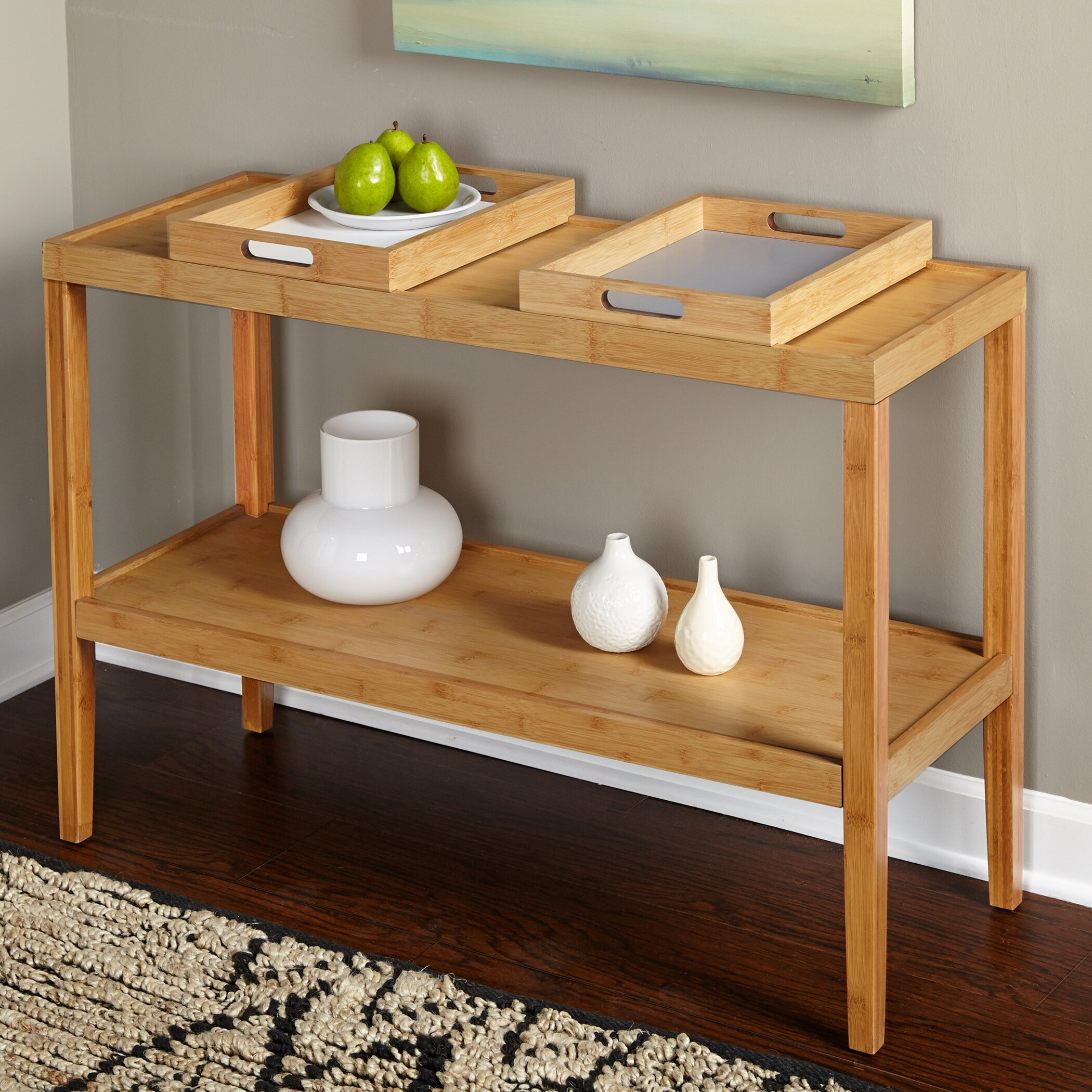 TMS Parker Console Table with Trays & Reviews