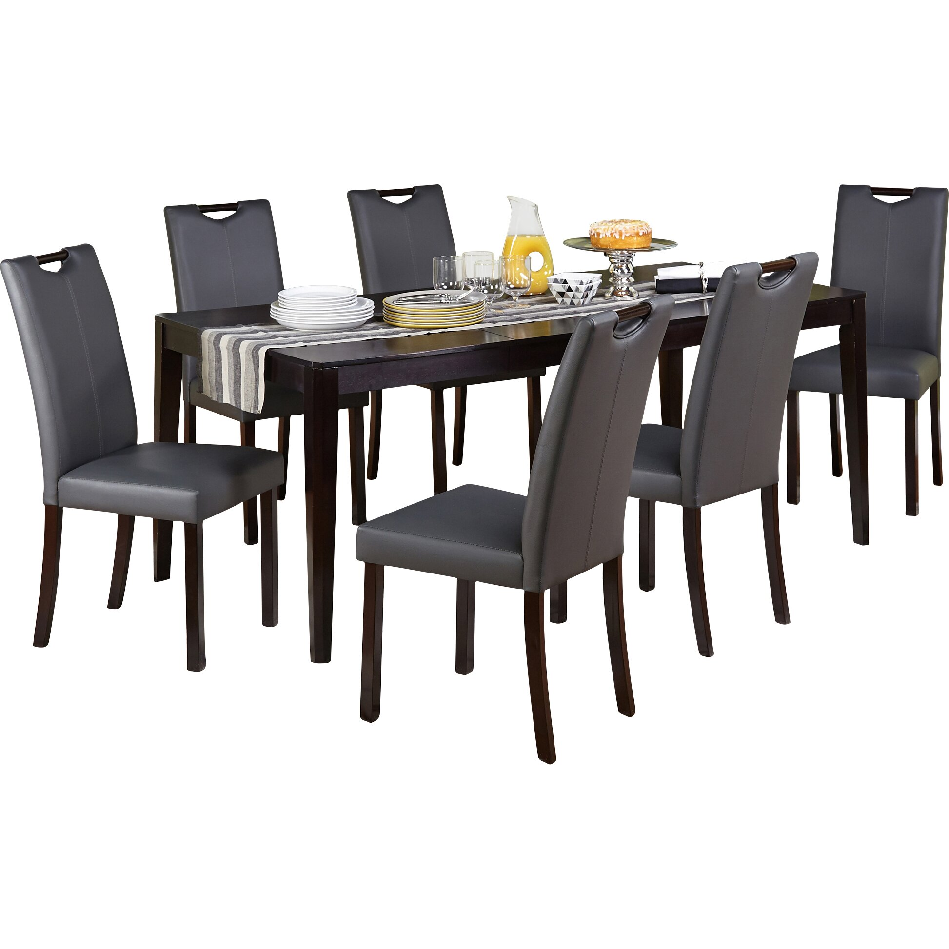 Superb img of TMS Tilo 7 Piece Dining Set & Reviews Wayfair with #B58C16 color and 1946x1946 pixels