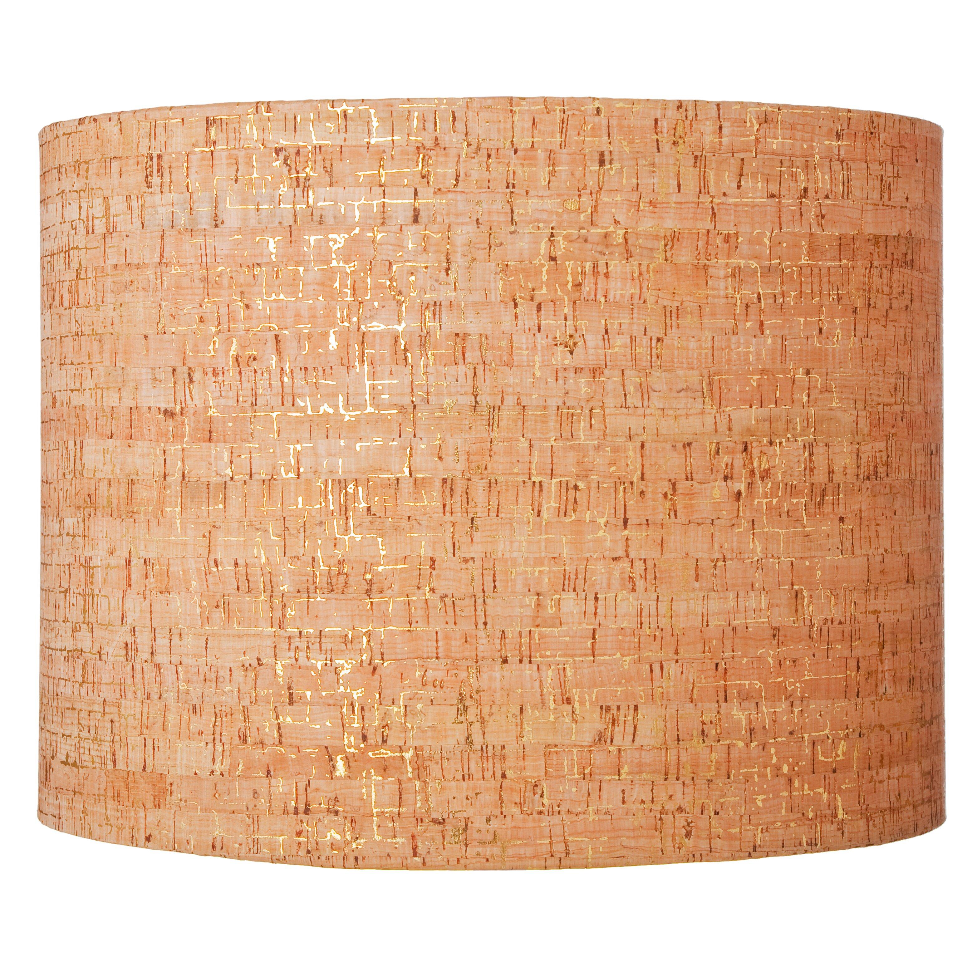 "Ls island hot Ziqi Home 16"" Natural Cork Drum Lamp Shade"