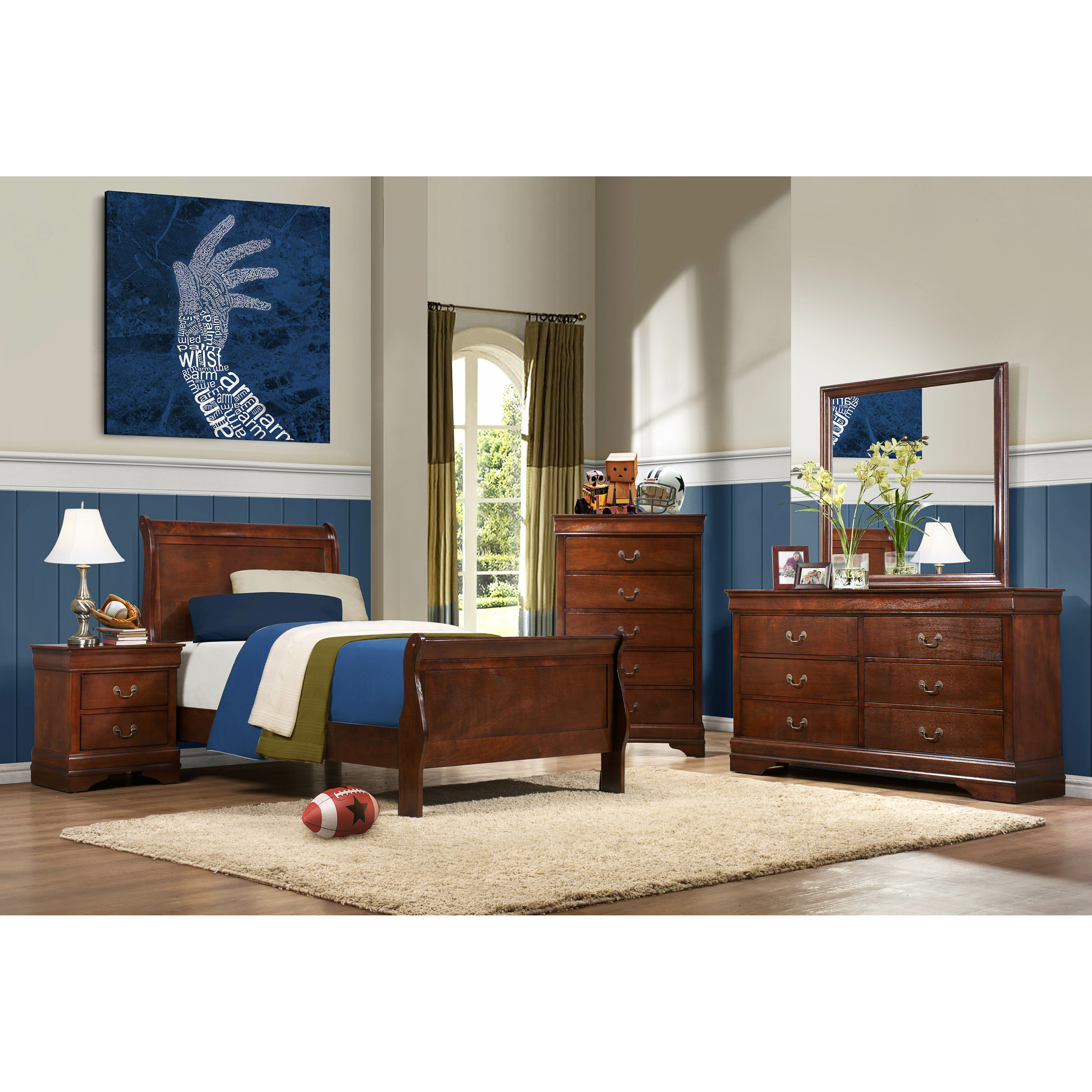 woodhaven hill mayville sleigh customizable bedroom set