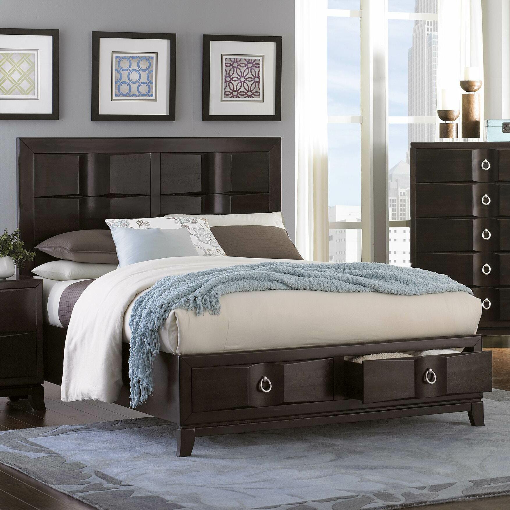 Edmonston Storage Panel Bed Wayfair