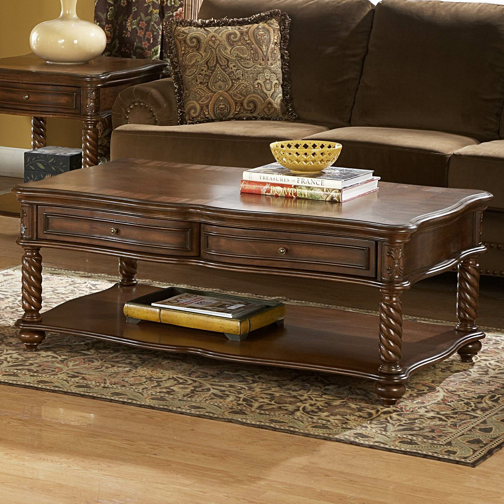 Woodhaven hill 5554 series coffee table reviews wayfair - Woodbridge home designs avalon coffee table ...