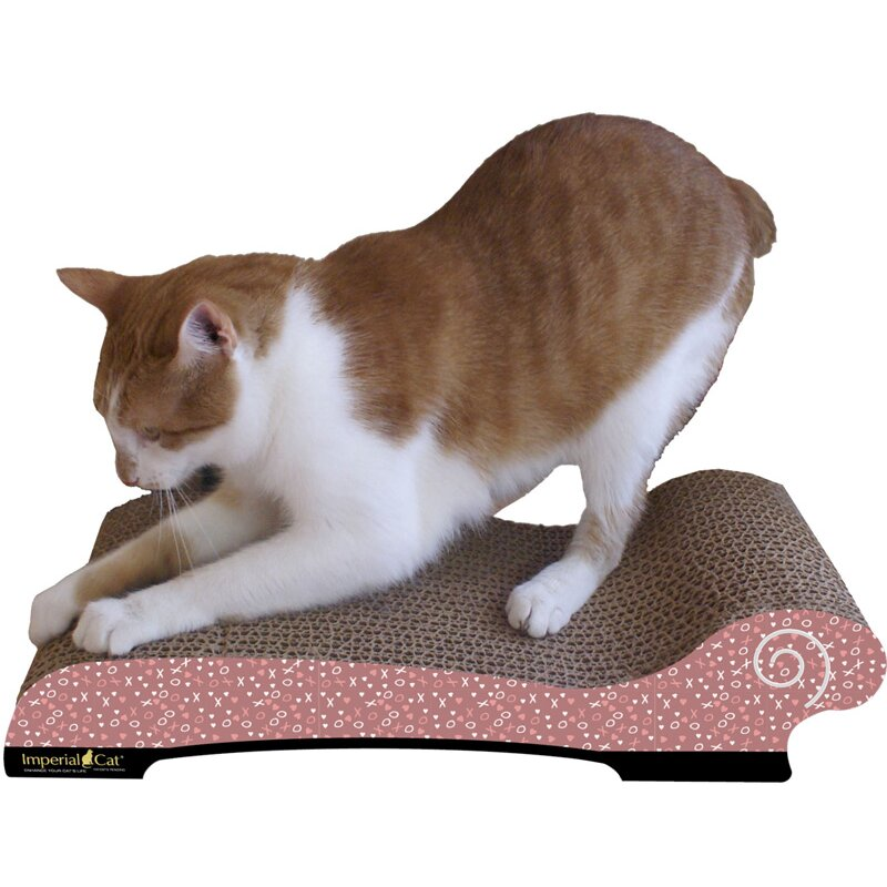 Imperial cat large chaise lounge recycles paper scratching for Cat chaise longue