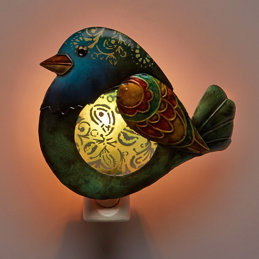 Decoflair decor bird night light reviews wayfair - Birdhouse nightlight ...