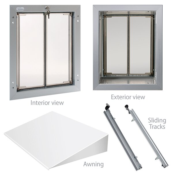 Plexidor Performance Pet Doors Large Wall Series Bundle