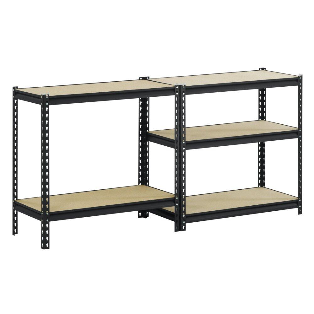 edsal sandusky 72 h steel five shelf heavy duty shelving. Black Bedroom Furniture Sets. Home Design Ideas