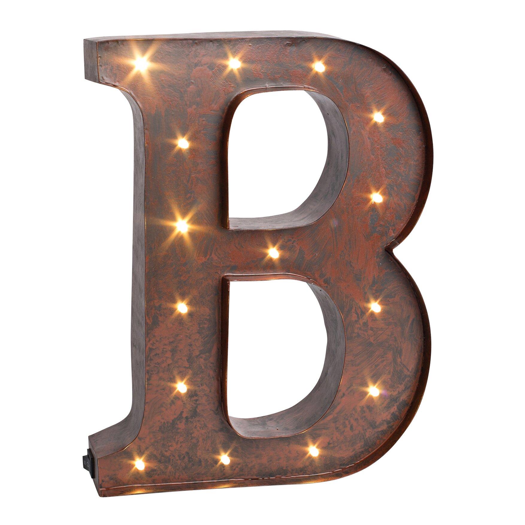 LED Lighted Metal Letter