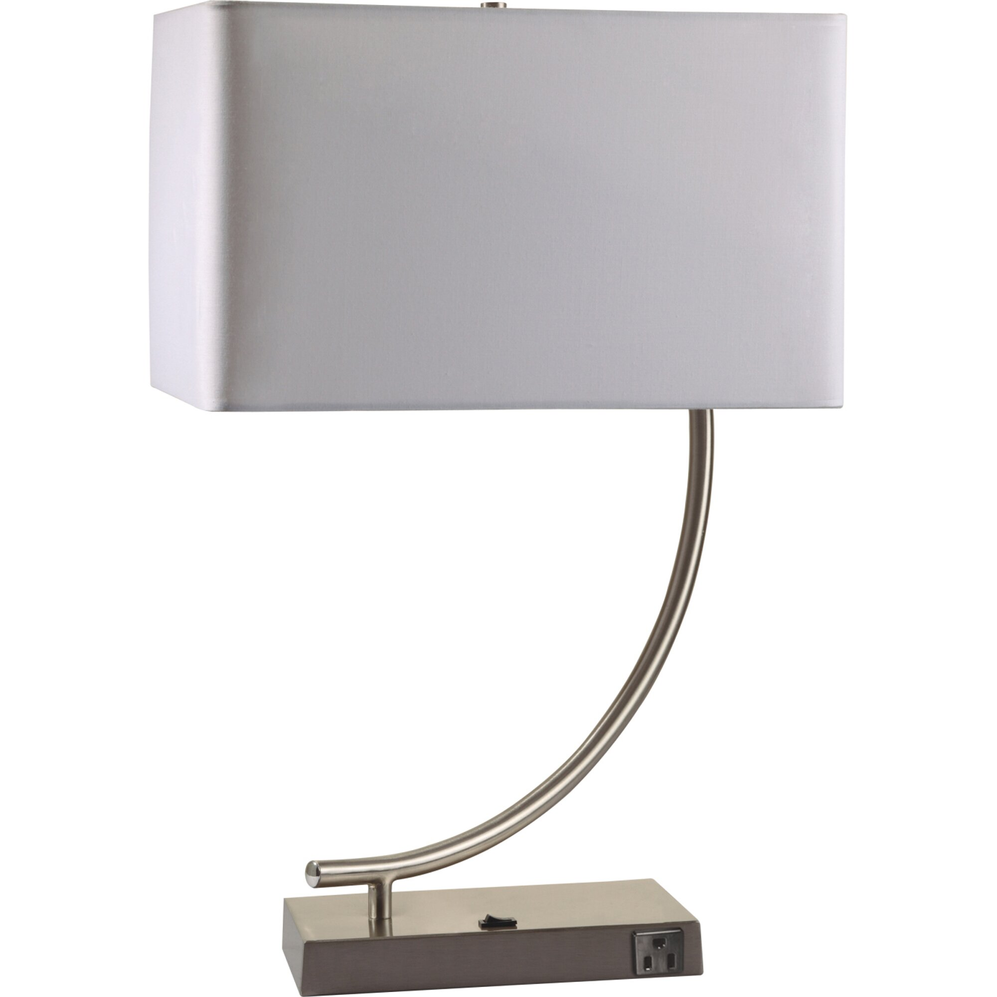 contemporary 22 h table lamp with rectangular shade by ore furniture. Black Bedroom Furniture Sets. Home Design Ideas