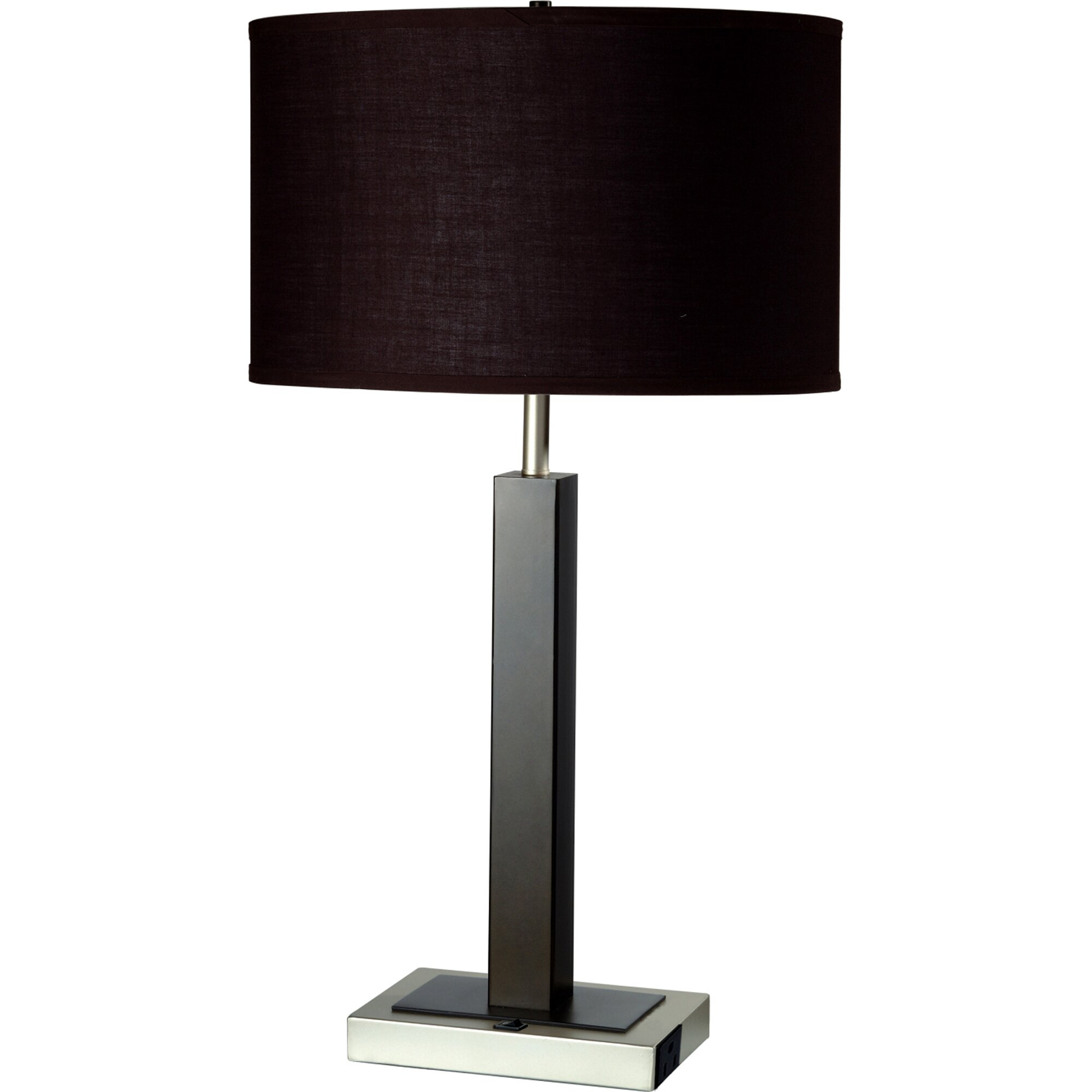 """Shades Of Light Outlet: ORE Furniture Convenient Outlet 26"""" H Table Lamp With Drum"""