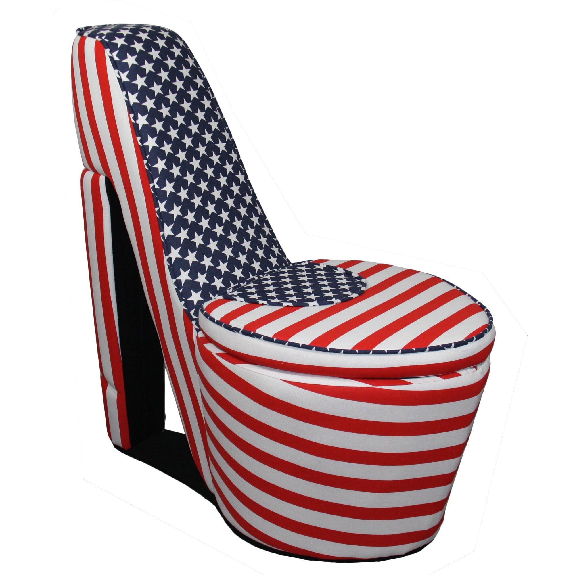Ore furniture patriotic high heel storage chair amp reviews wayfair