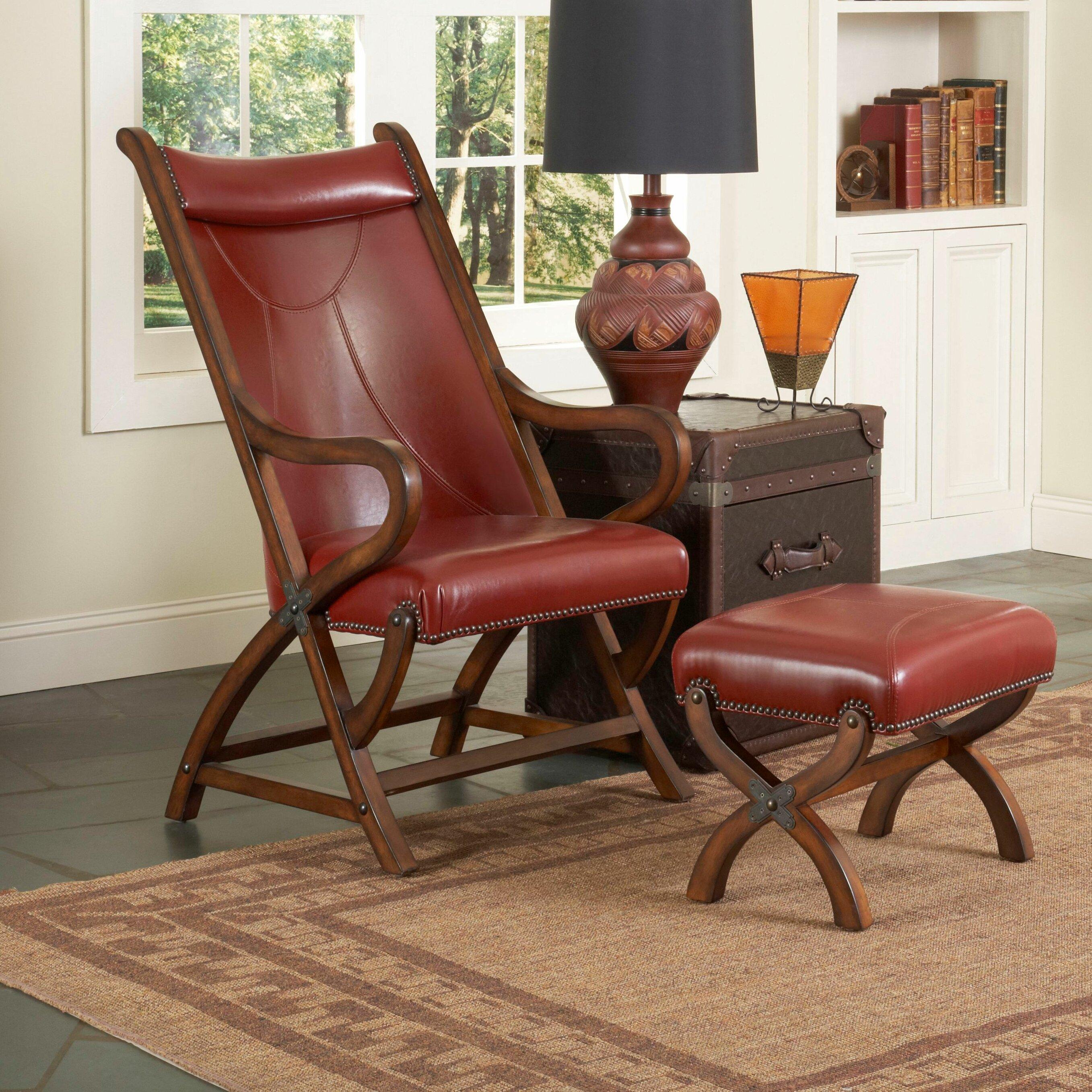 Largo Hunter Chair and Ottoman & Reviews | Wayfair