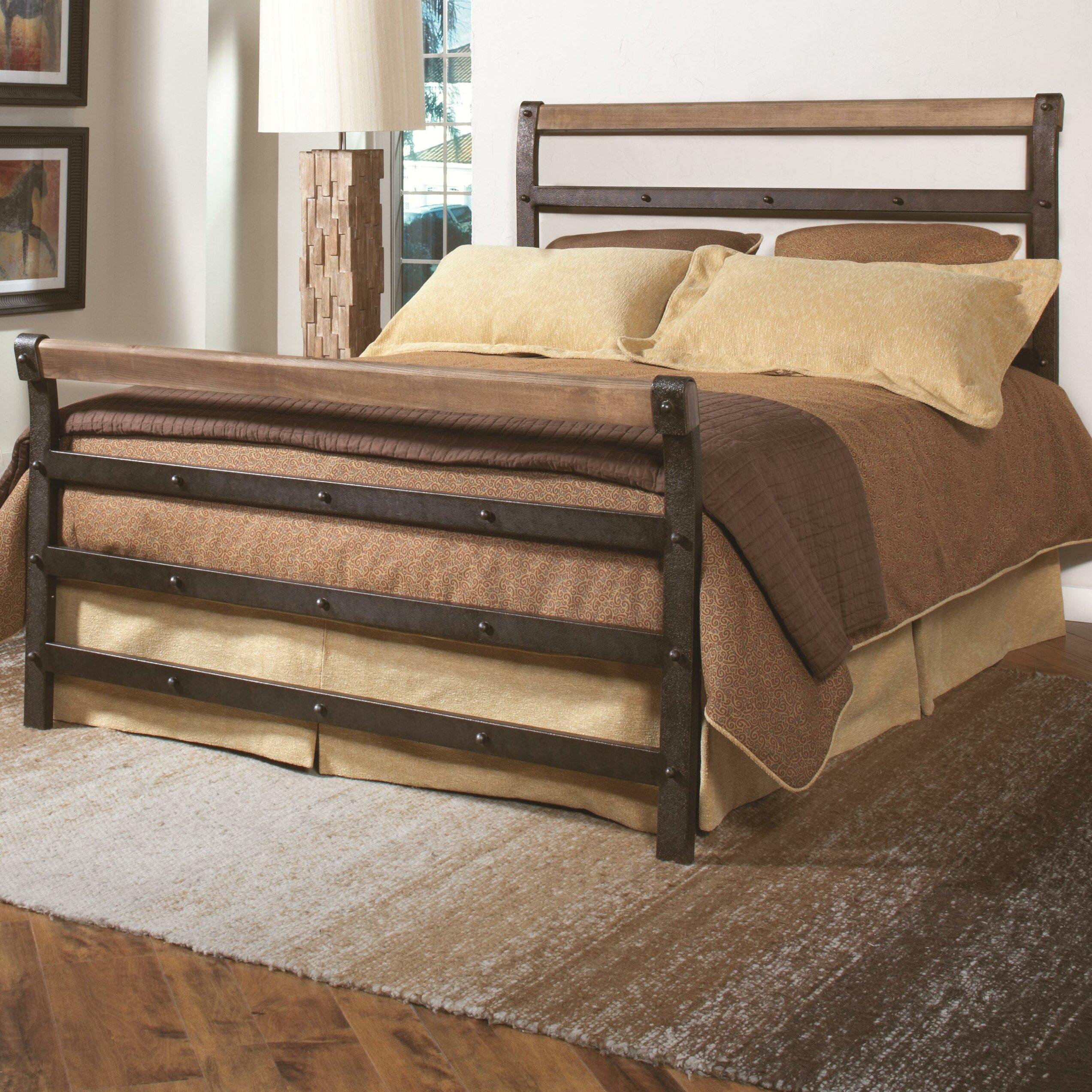 Wood Metal Bed : Largo Fargo Metal Wood Headboard and Footboard & Reviews  Wayfair