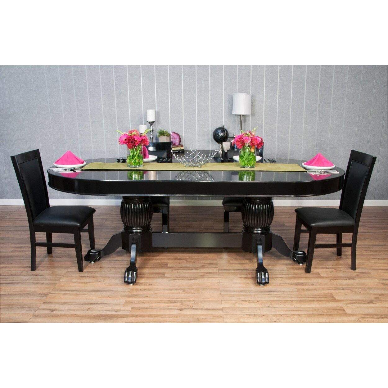 Elite 8 Piece Poker Dining Table Set With Dining Chairs