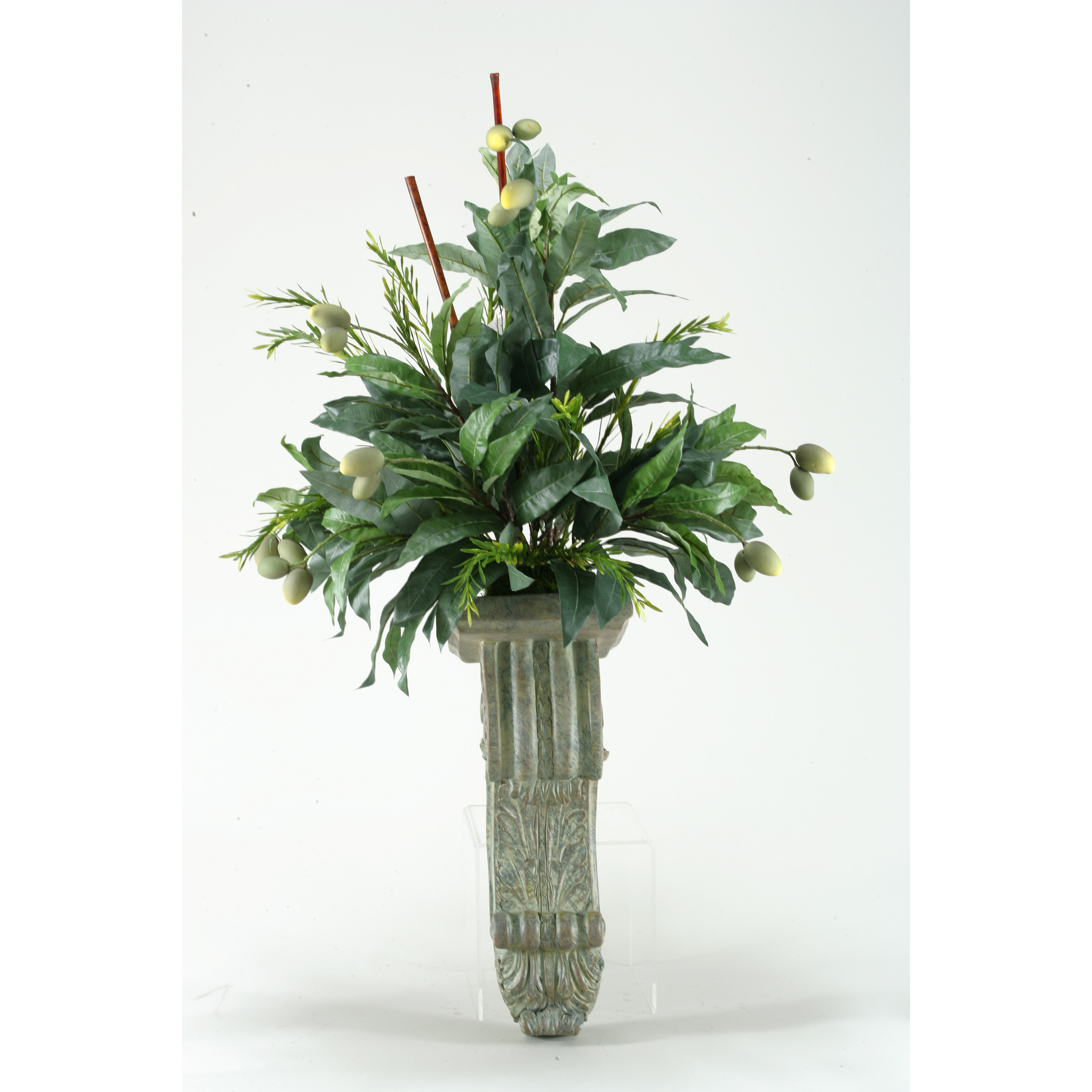 Mango Branches Wall Plant in Sconce Wayfair