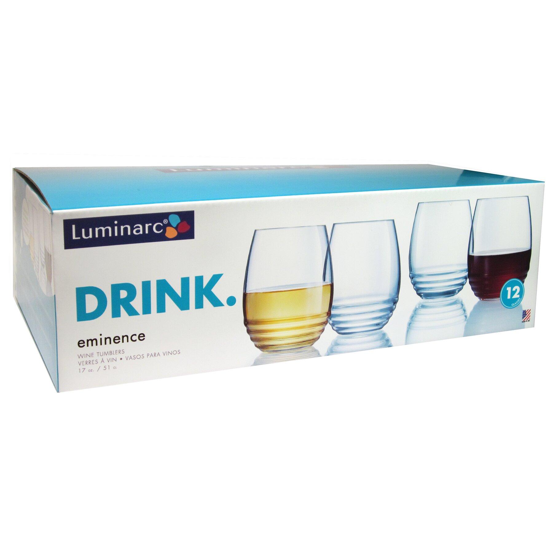 luminarc eminence btd 17 oz stemless wine glass reviews wayfair. Black Bedroom Furniture Sets. Home Design Ideas