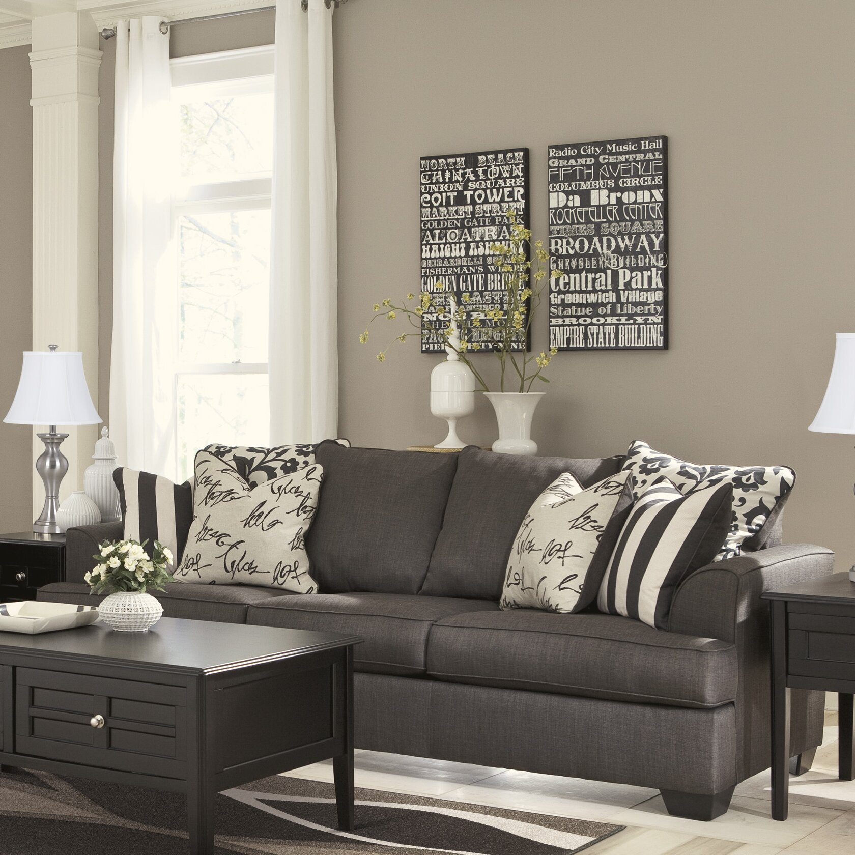 Signature Design By Ashley Hobson Living Room Collection