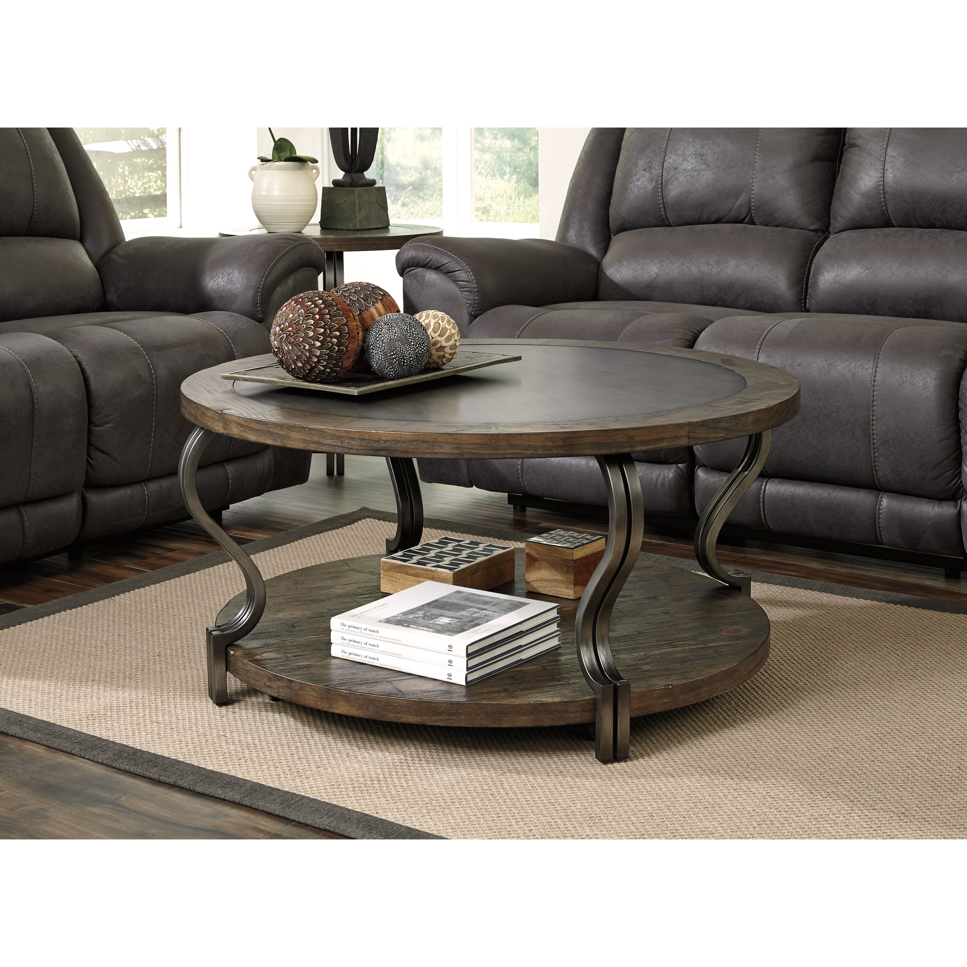 Ashley Furniture Distressed Coffee Table: Signature Design By Ashley Volanta Coffee Table & Reviews