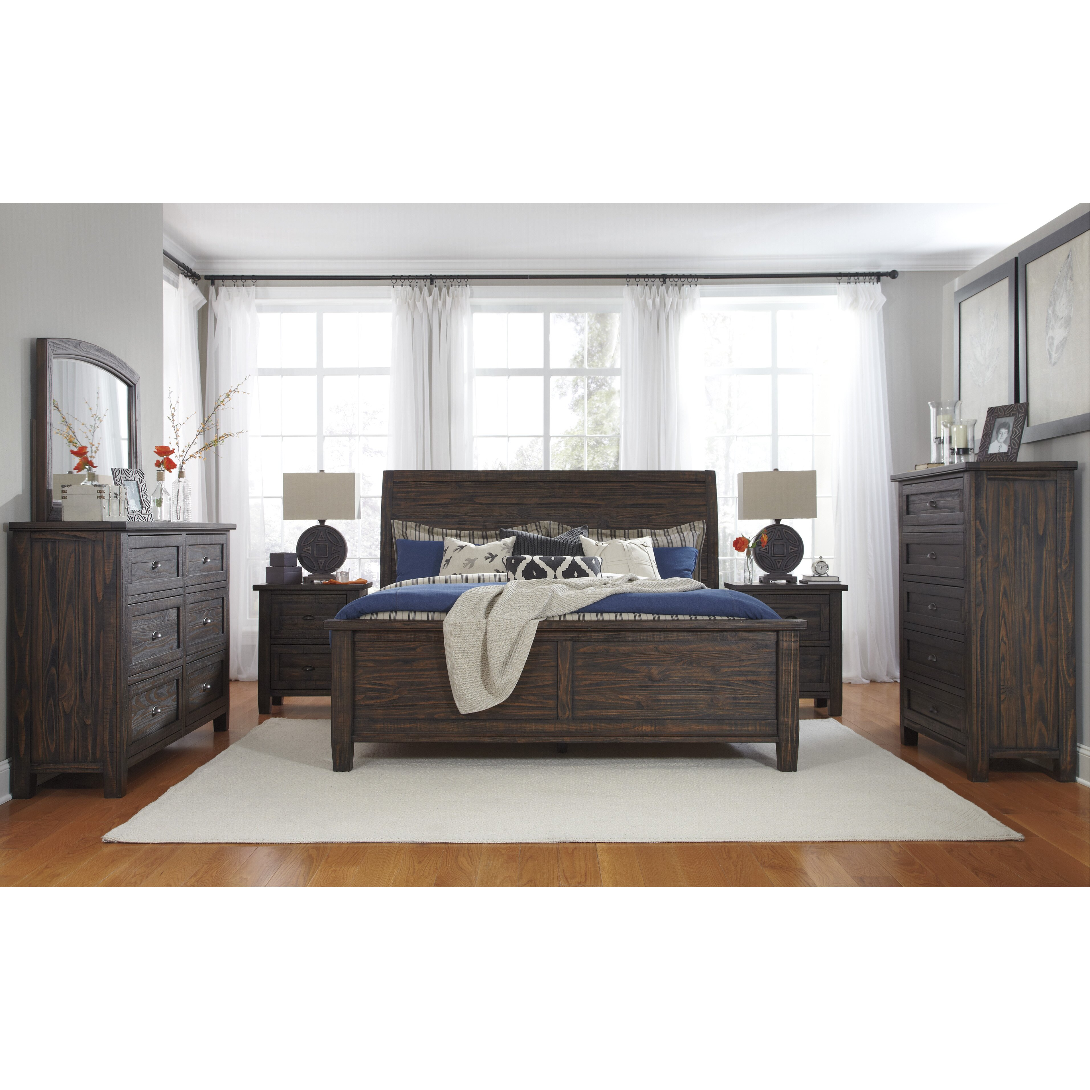 panel 5 piece bedroom set by signature design by ashley