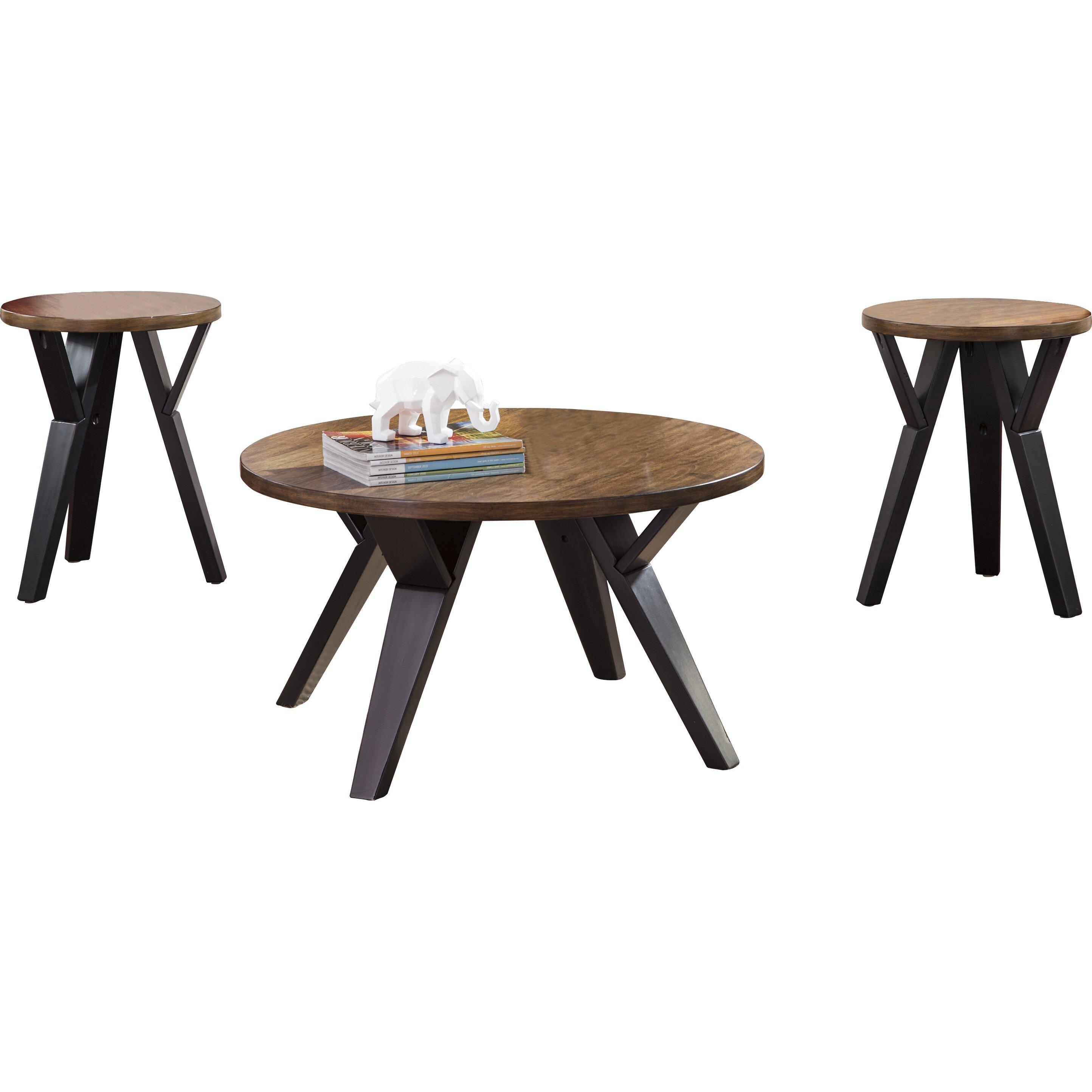 Signature Design by Ashley Ingel 3 Piece Coffee Table Set u0026 Reviews : Wayfair