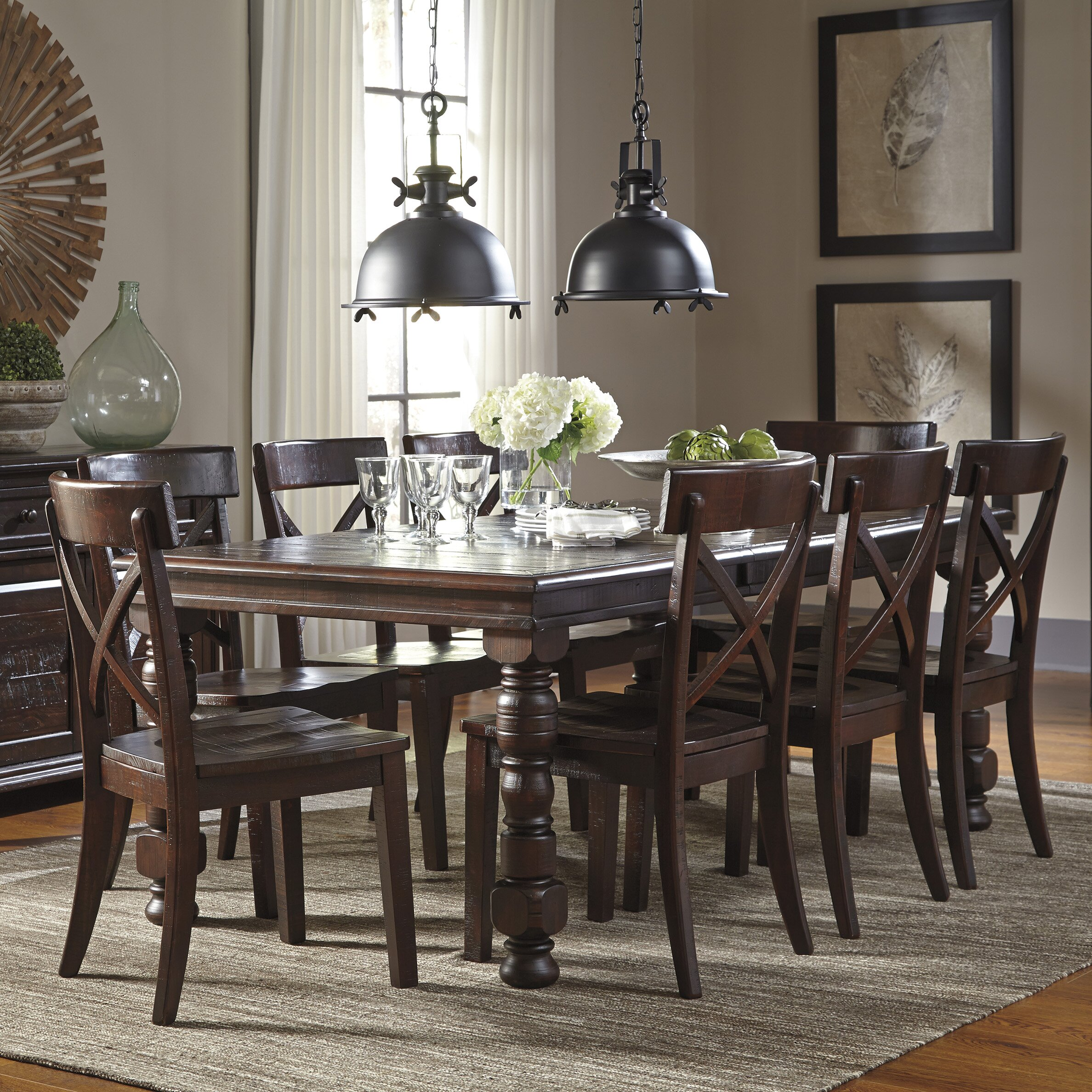 Signature Design by Ashley 9 Piece Dining Set & Reviews