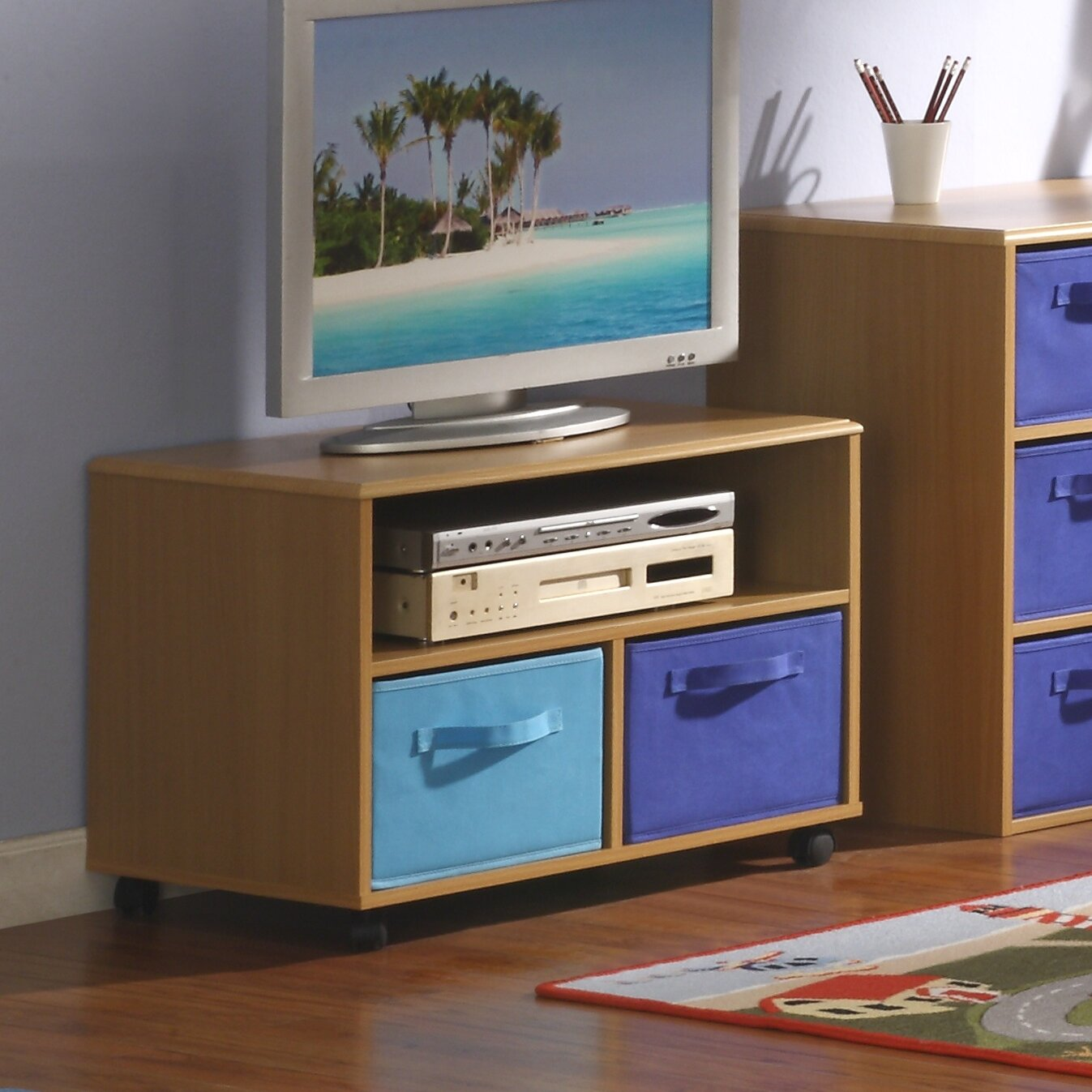 4d concepts children boy 39 s tv stand reviews wayfair for Tv stand kids room
