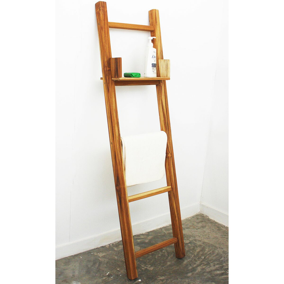 Strata furniture freestanding towel ladder amp reviews wayfair