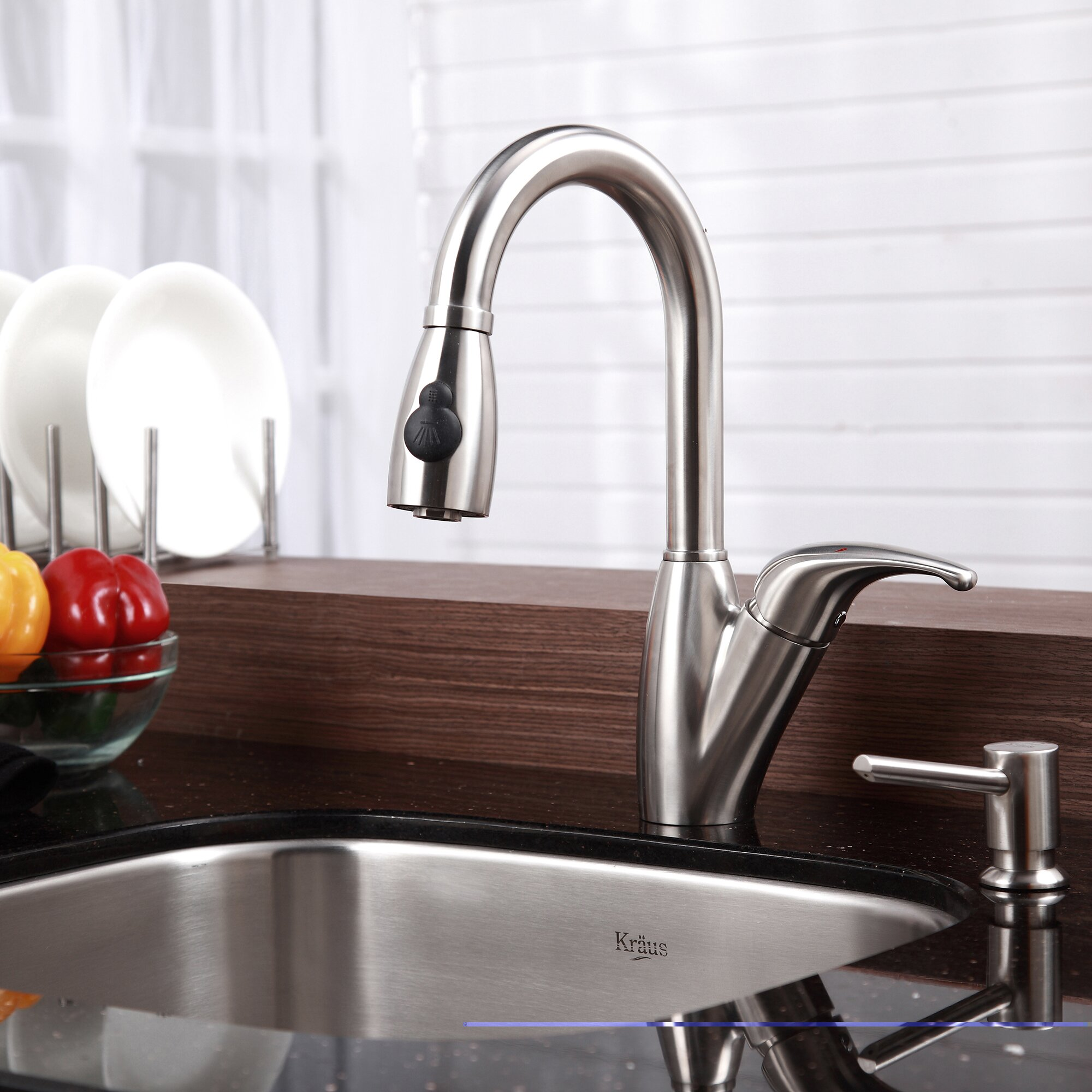 kraus one handle single hole kitchen faucet with pull out whitehaus englishhaus single hole kitchen faucet with