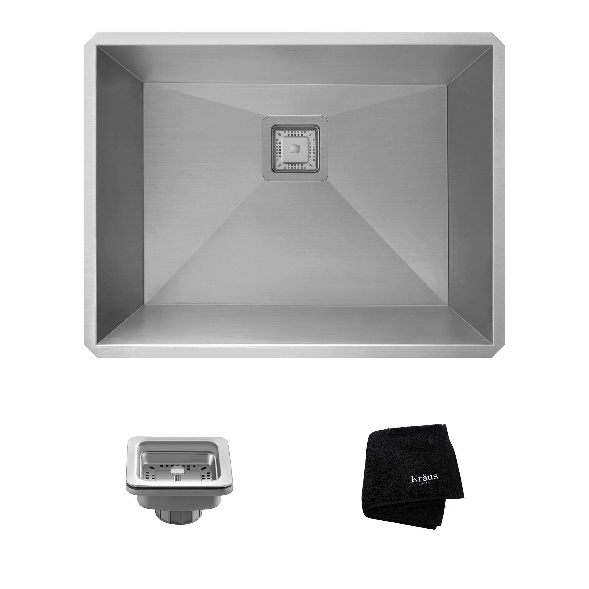 Laundry Undermount Sink : ... Undermount Single Bowl Stainless Steel Laundry and Utility Sink by