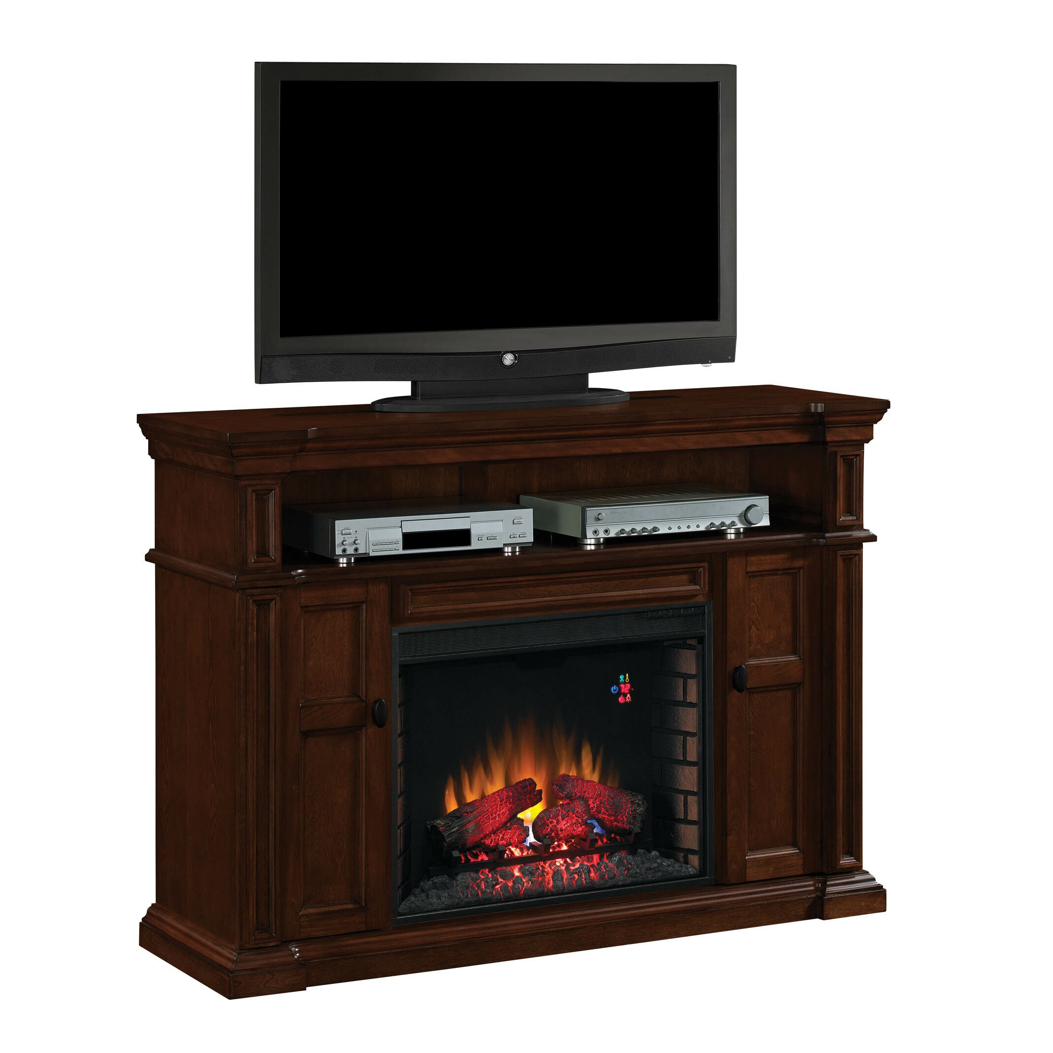 classic flame wyatt tv stand with infared electronic