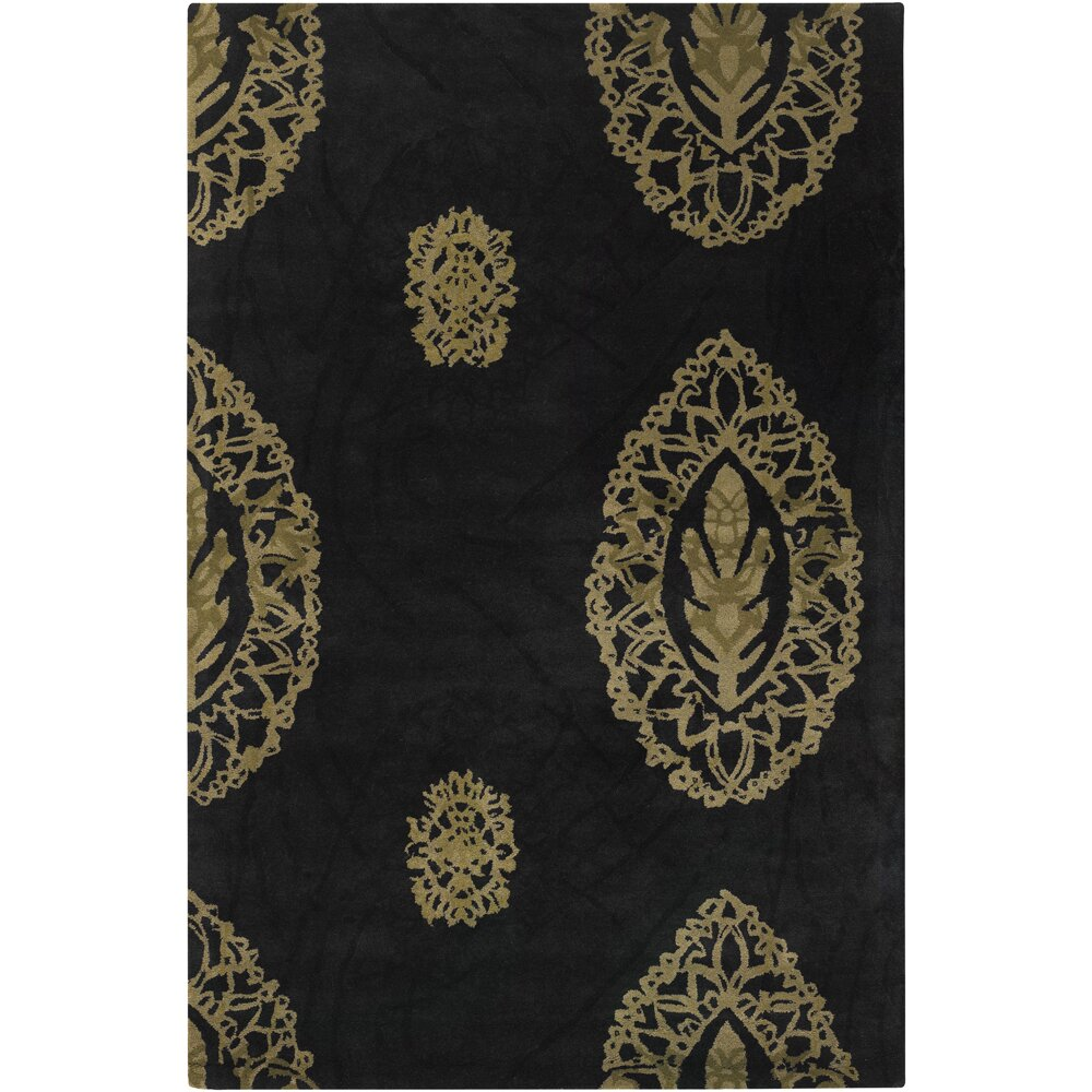dharma black tan area rug wayfair. Black Bedroom Furniture Sets. Home Design Ideas