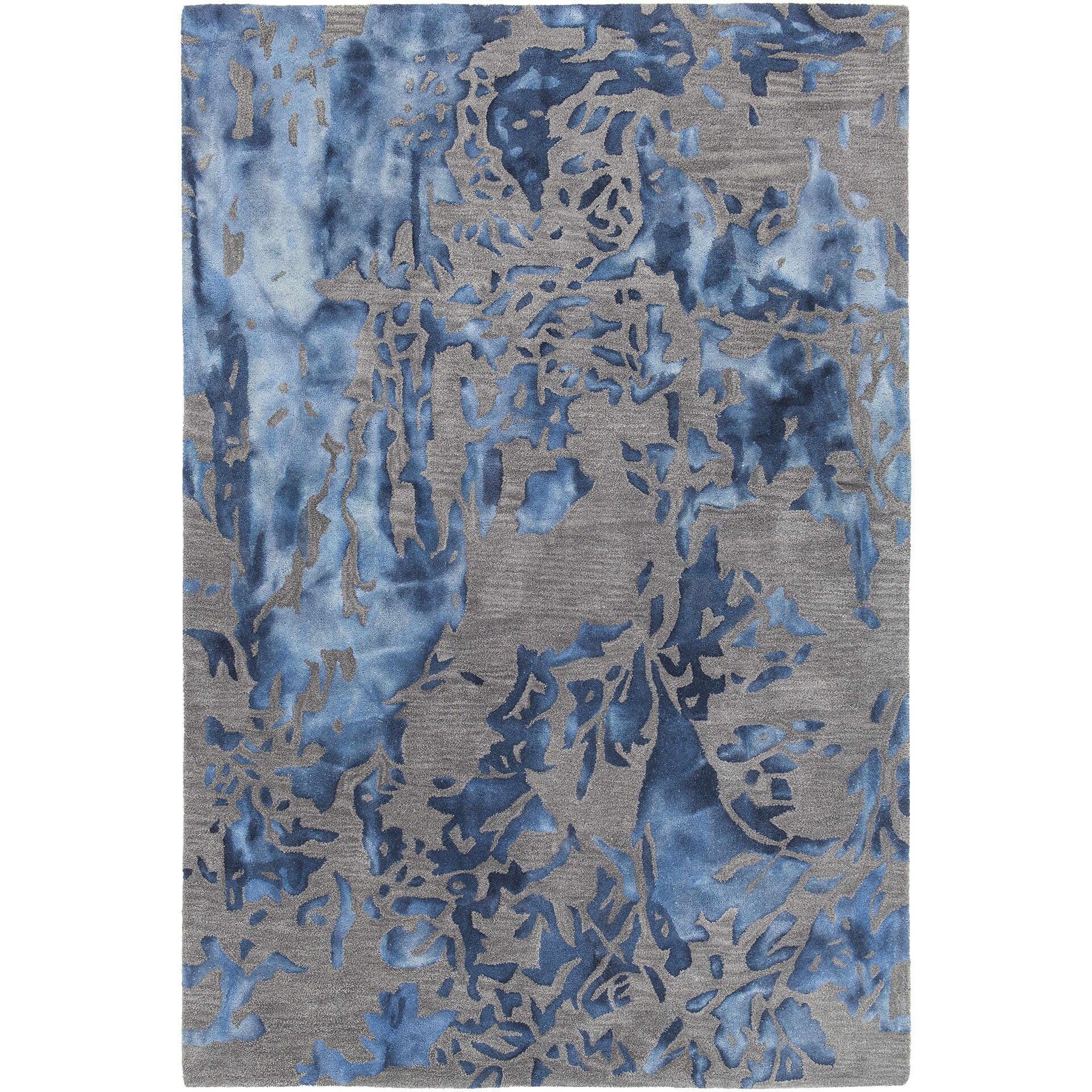brynn hand tufted blue gray area rug wayfair. Black Bedroom Furniture Sets. Home Design Ideas
