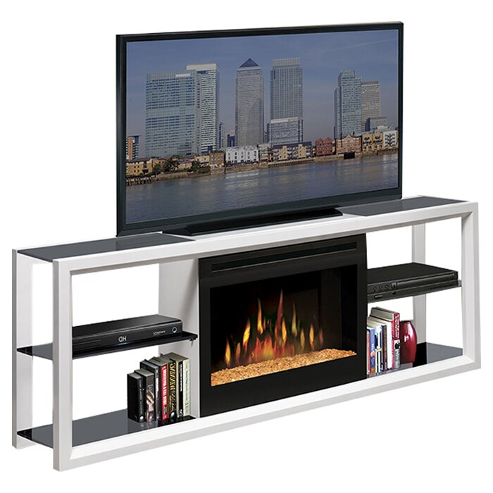 Hokku Designs Dimplex TV Stand with Electric Fireplace