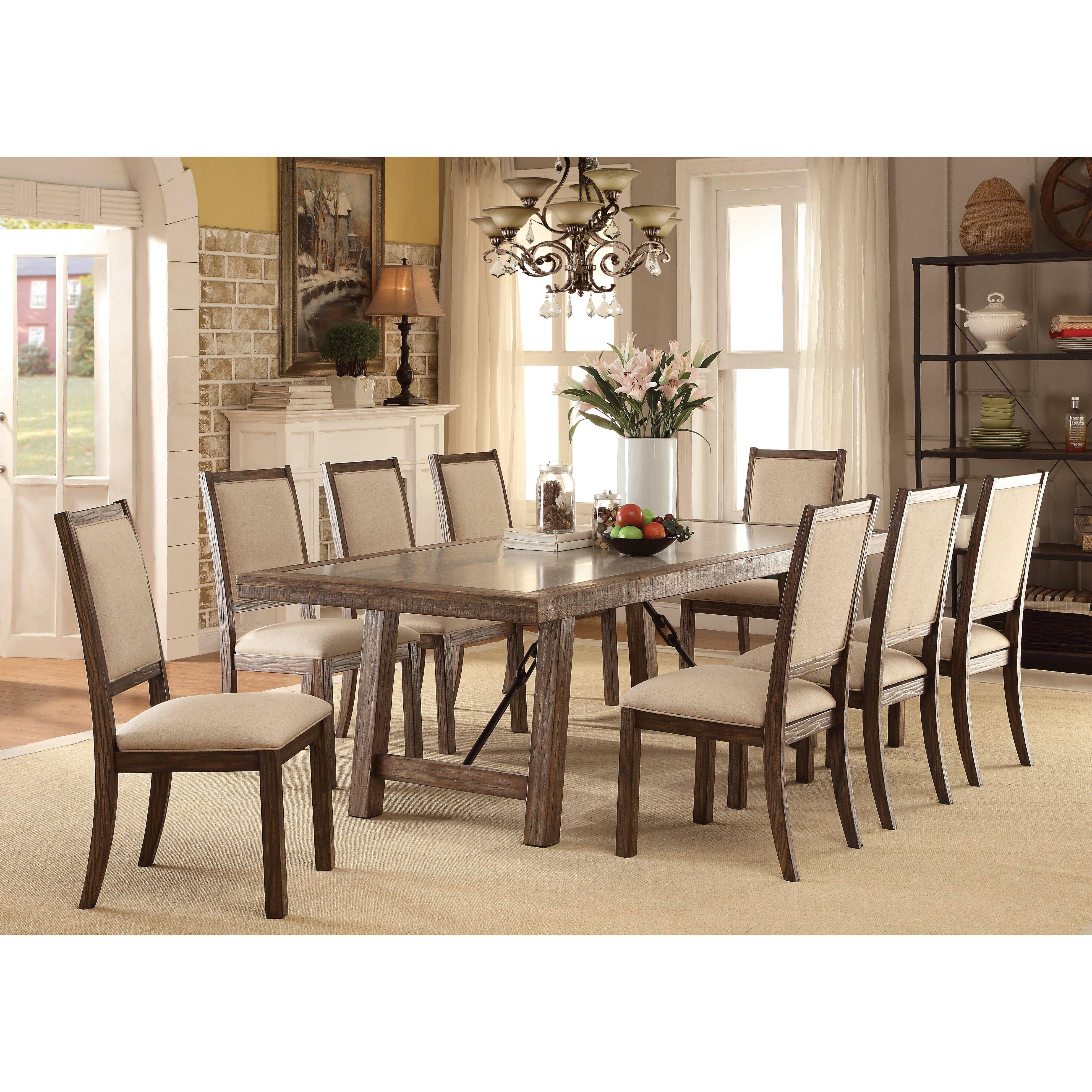 9 piece dining room table sets | Vienzo 9 Piece Dining Set | Wayfair