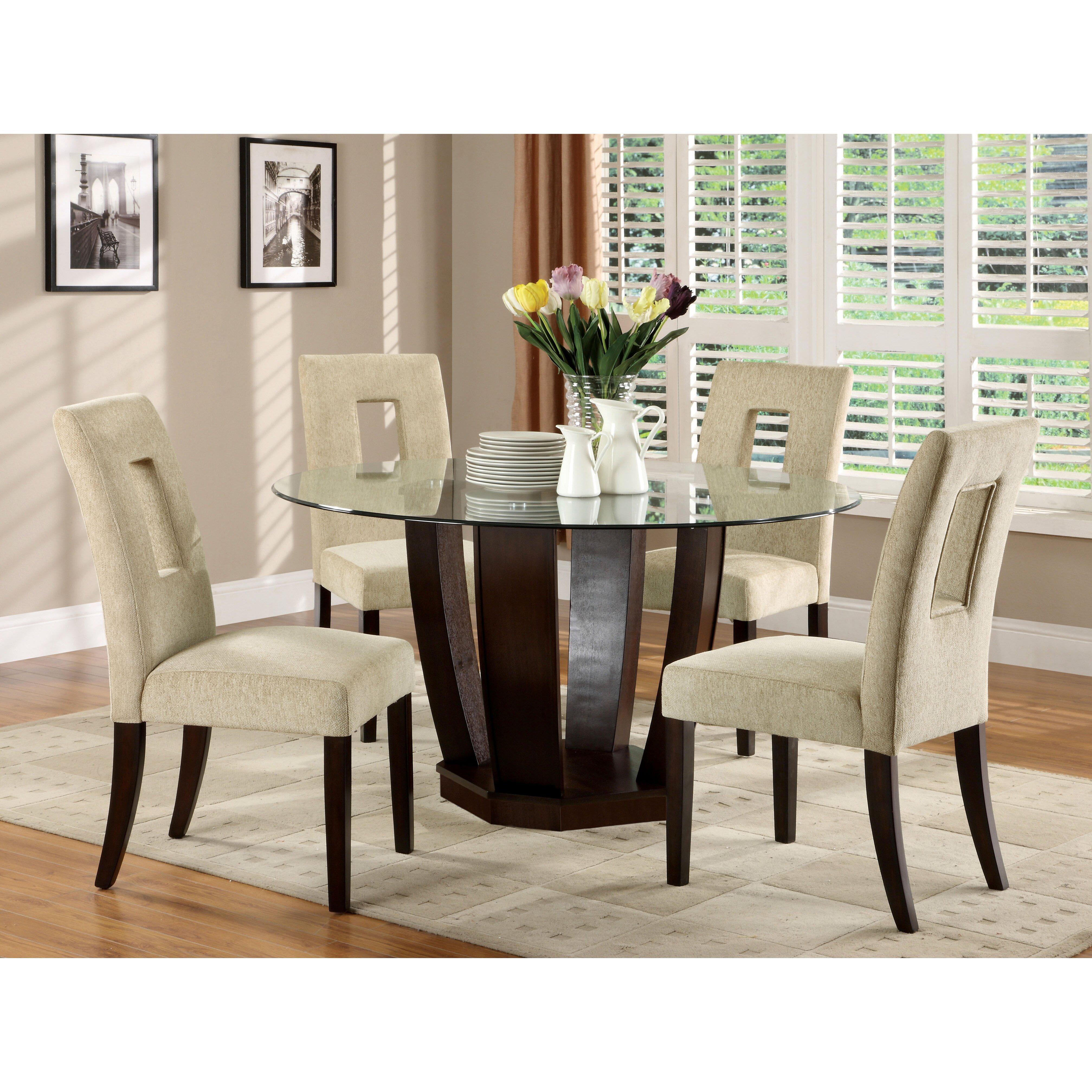 Hokku designs catina 5 piece dining set reviews wayfair for Dining set decoration
