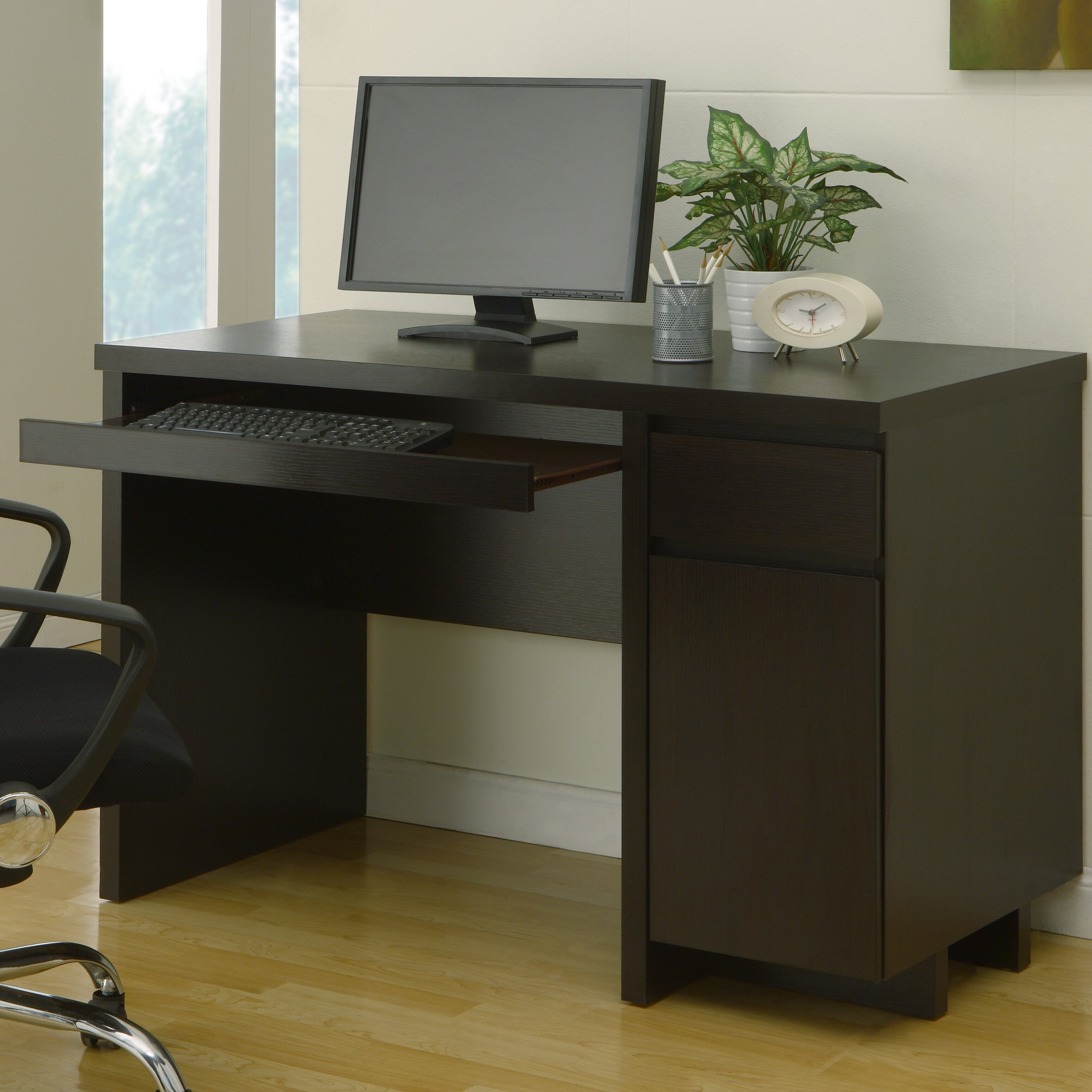 Hokku designs chilton basic computer desk with drawer for Houzz pro account cost