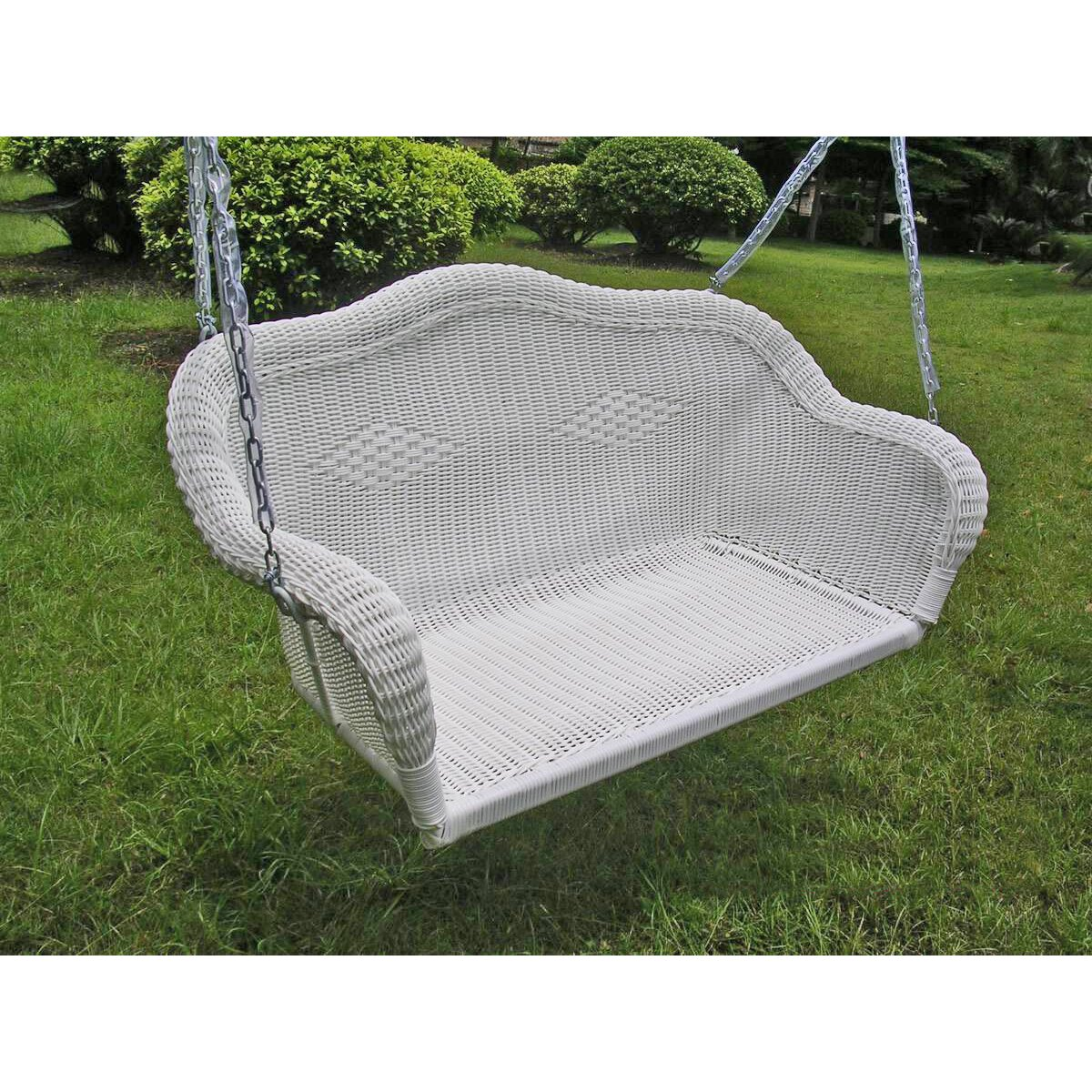 International Caravan Chelsea Wicker Porch Swing & Reviews