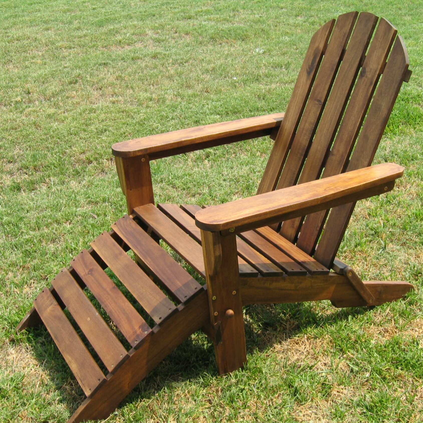 International Caravan Adirondack Chair with Footrest & Reviews