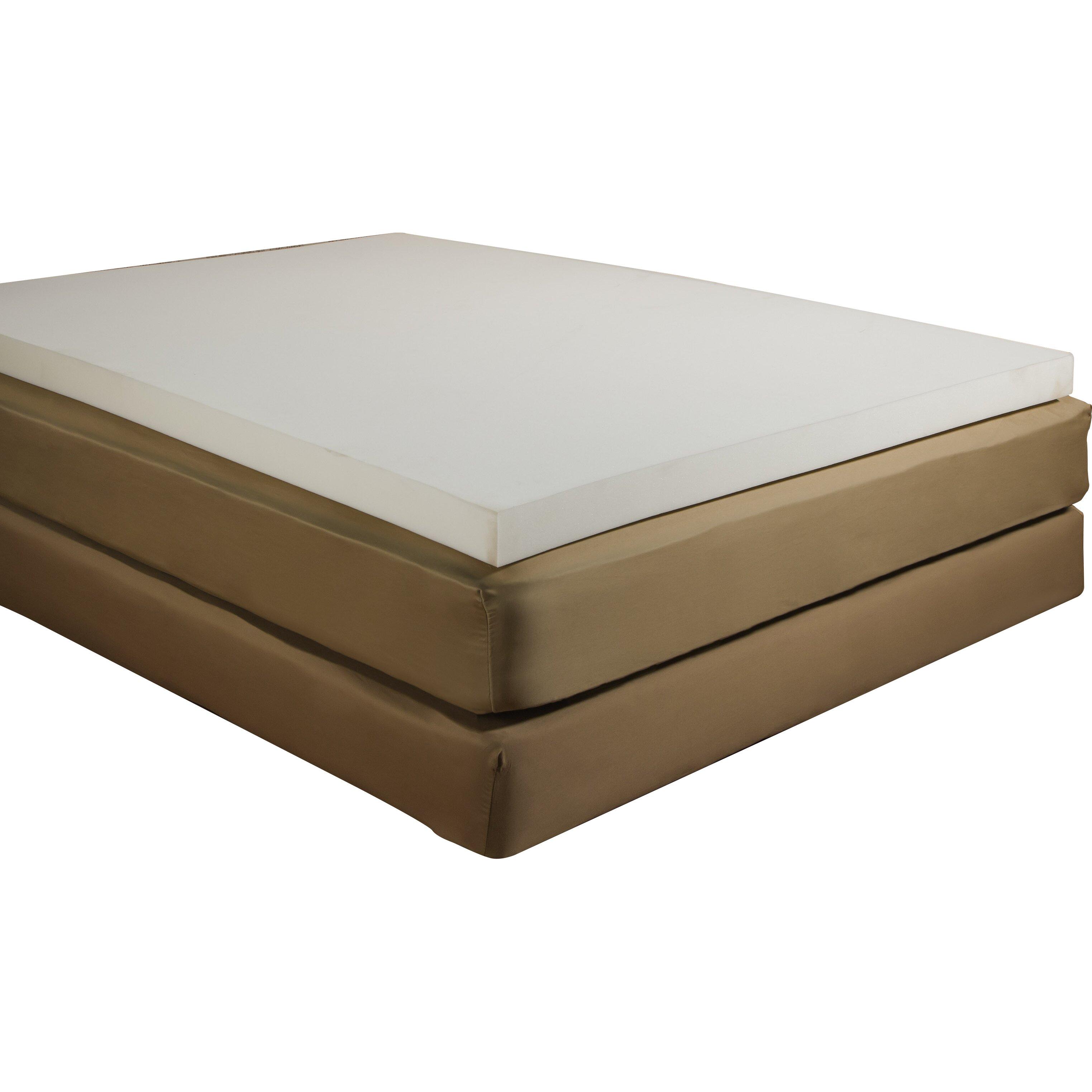 independent sleep 2 memory foam mattress topper reviews wayfair. Black Bedroom Furniture Sets. Home Design Ideas