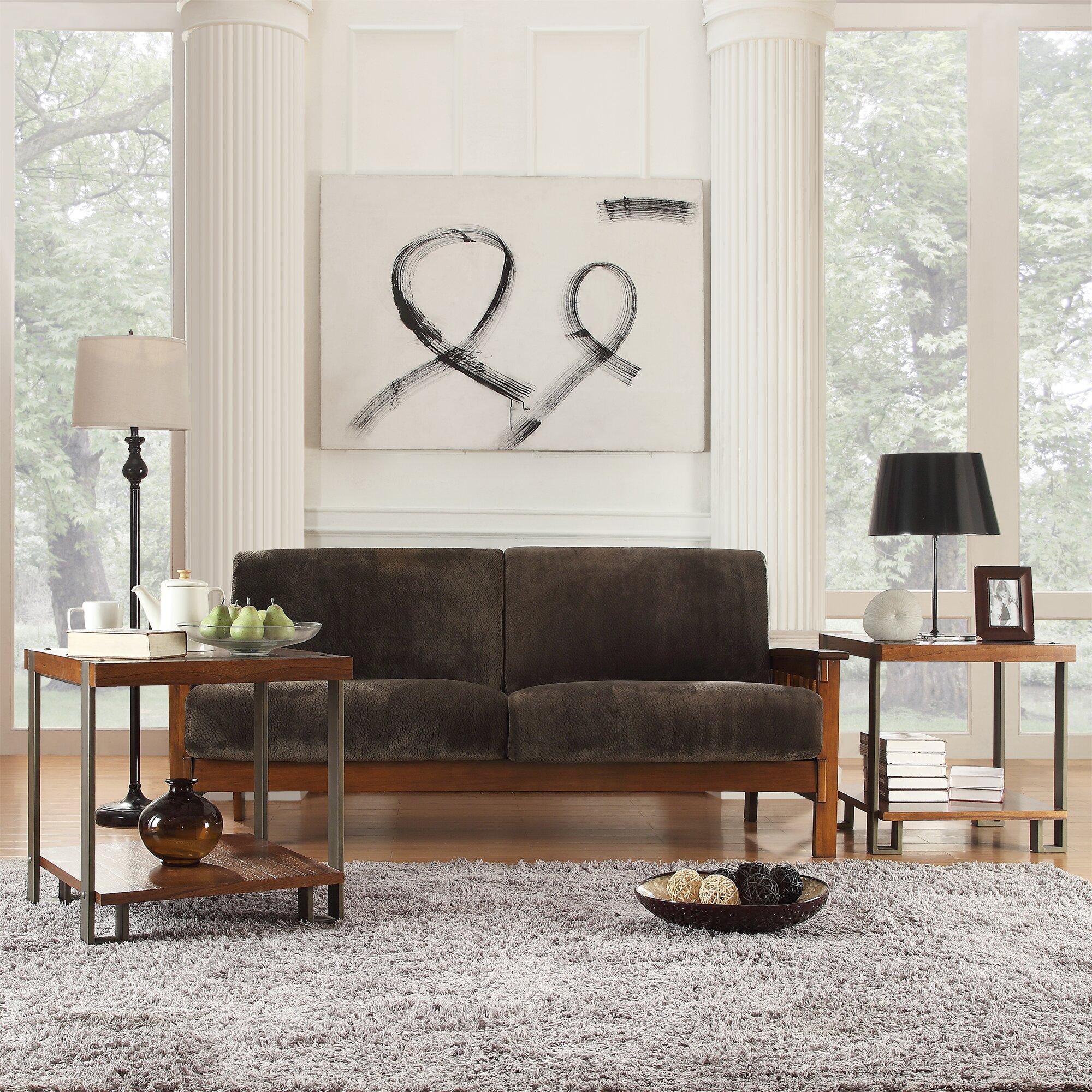 Kingstown Home Warner Mission Sofa Amp Reviews Wayfair