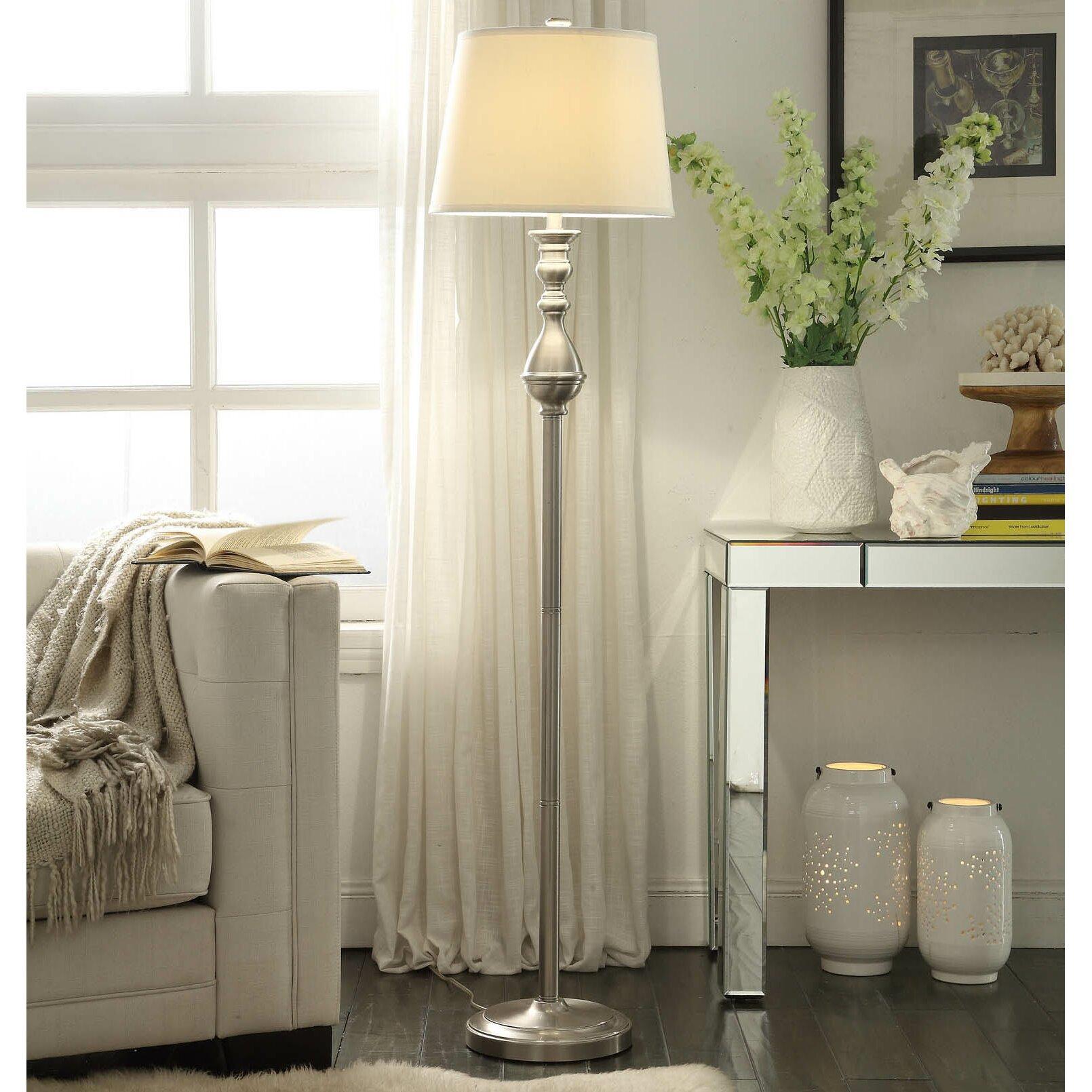 Base 1 2 3 Alvira Way Contoured Base Light Floor Lamp Elt