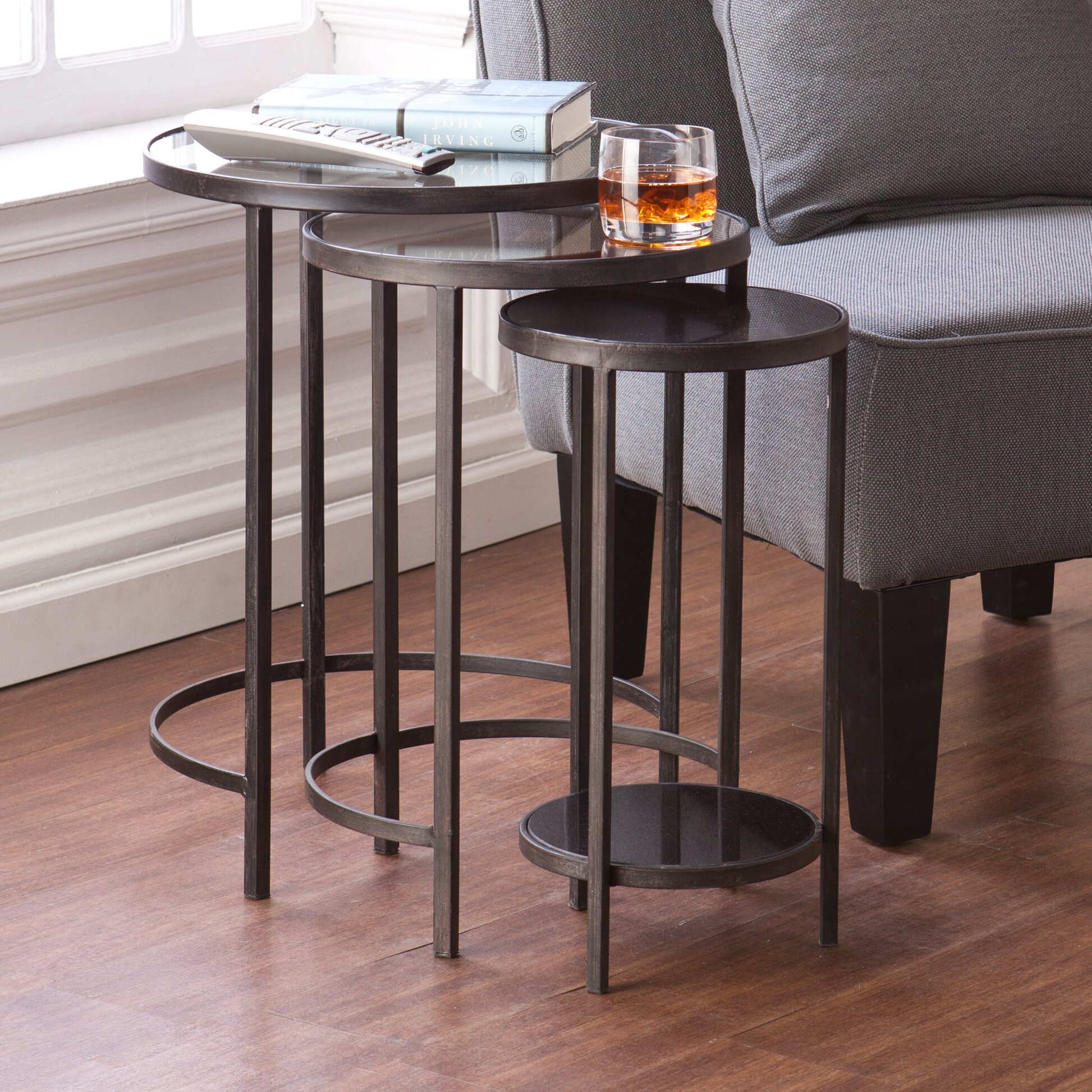 Holly & Martin Ocelle 3 Piece Nesting Table Set & Reviews Wayfair. Full resolution  portraiture, nominally Width 1946 Height 1946 pixels, portraiture with #80594B.