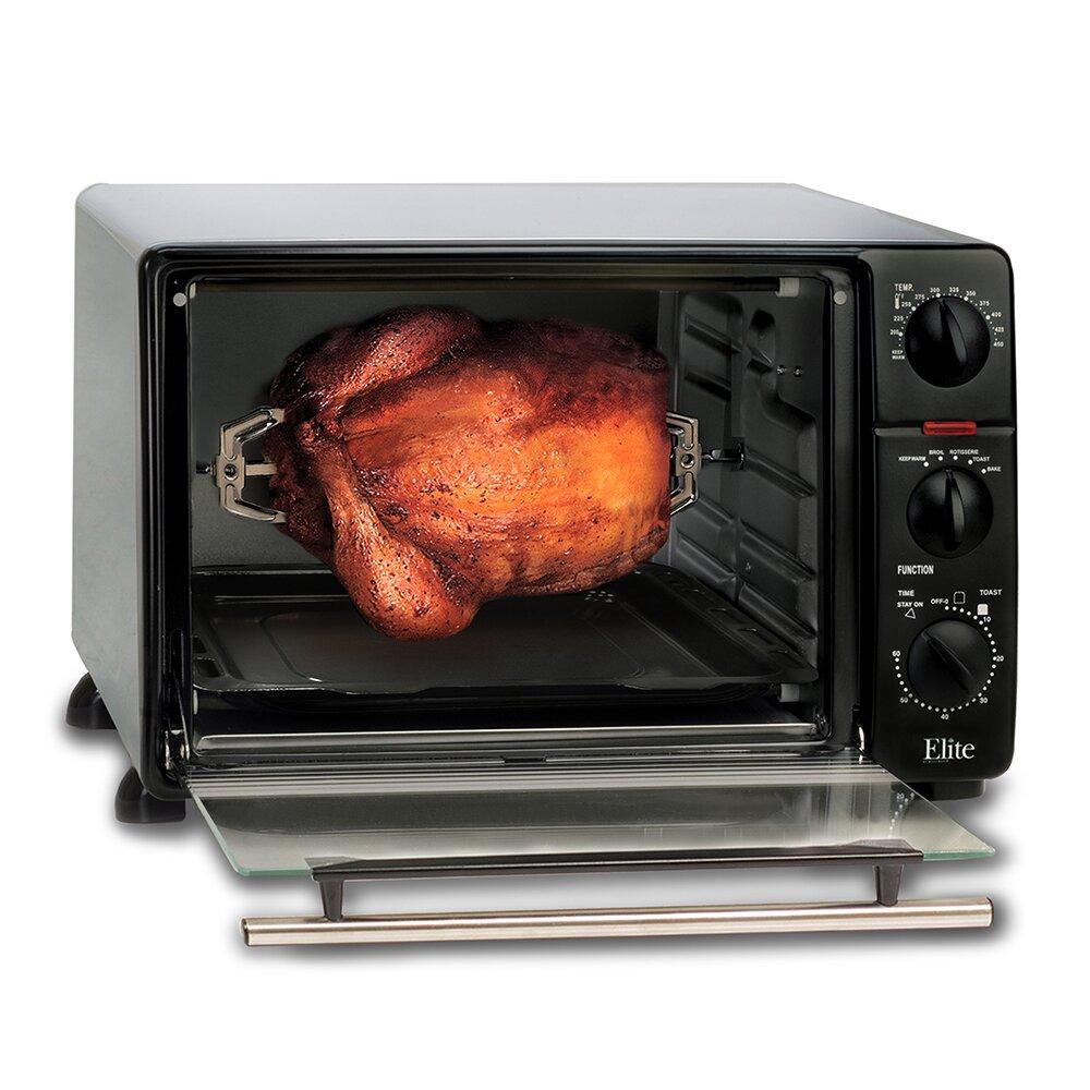 Maximatic Ero 2008s Elite Cuisine 6 Slice Toaster Oven: Elite By Maxi-Matic Cuisine 0.8-Cubic Foot Oven Broiler