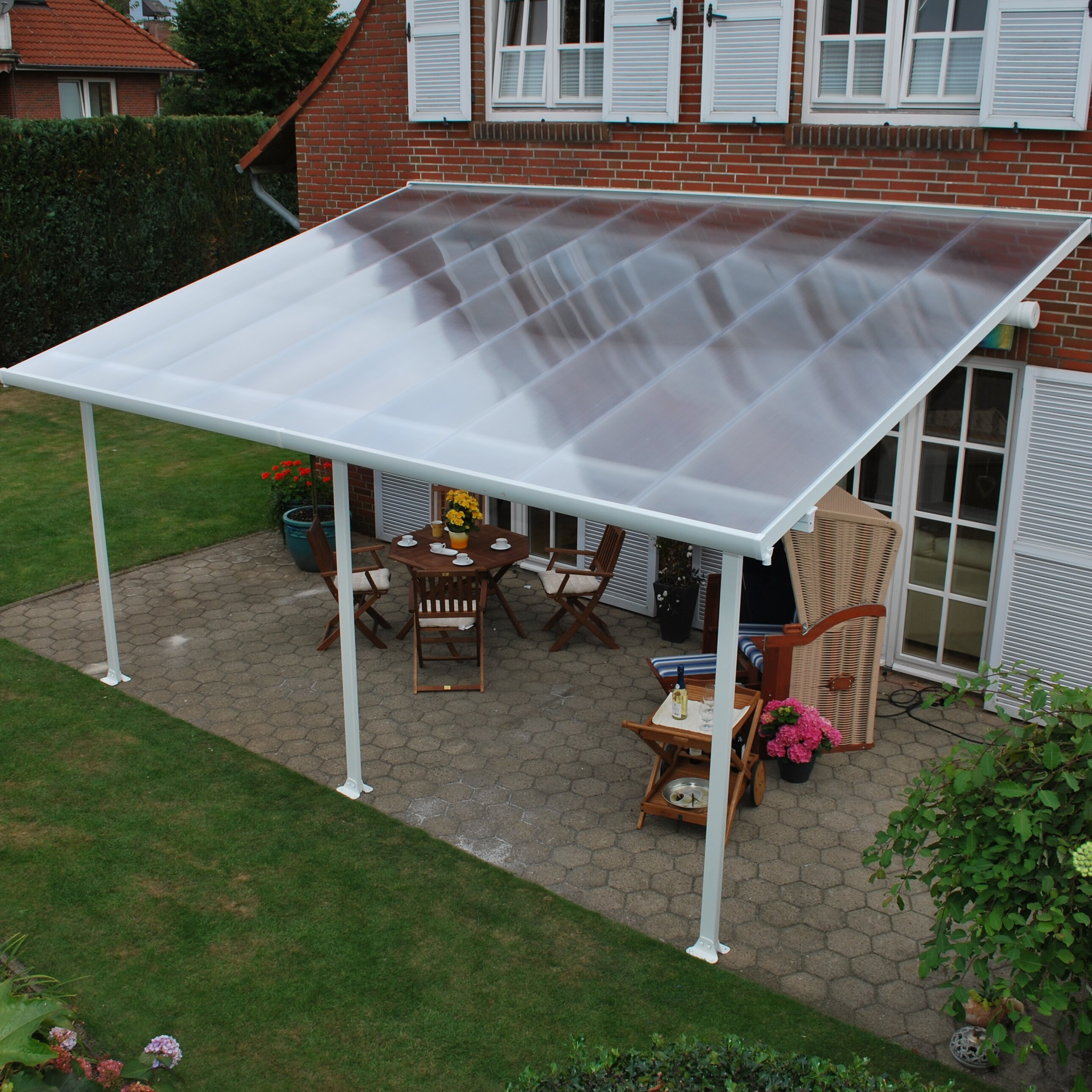 Feria™ 10ft. H x 28ft. W x 13ft. D Patio Cover Awning ...